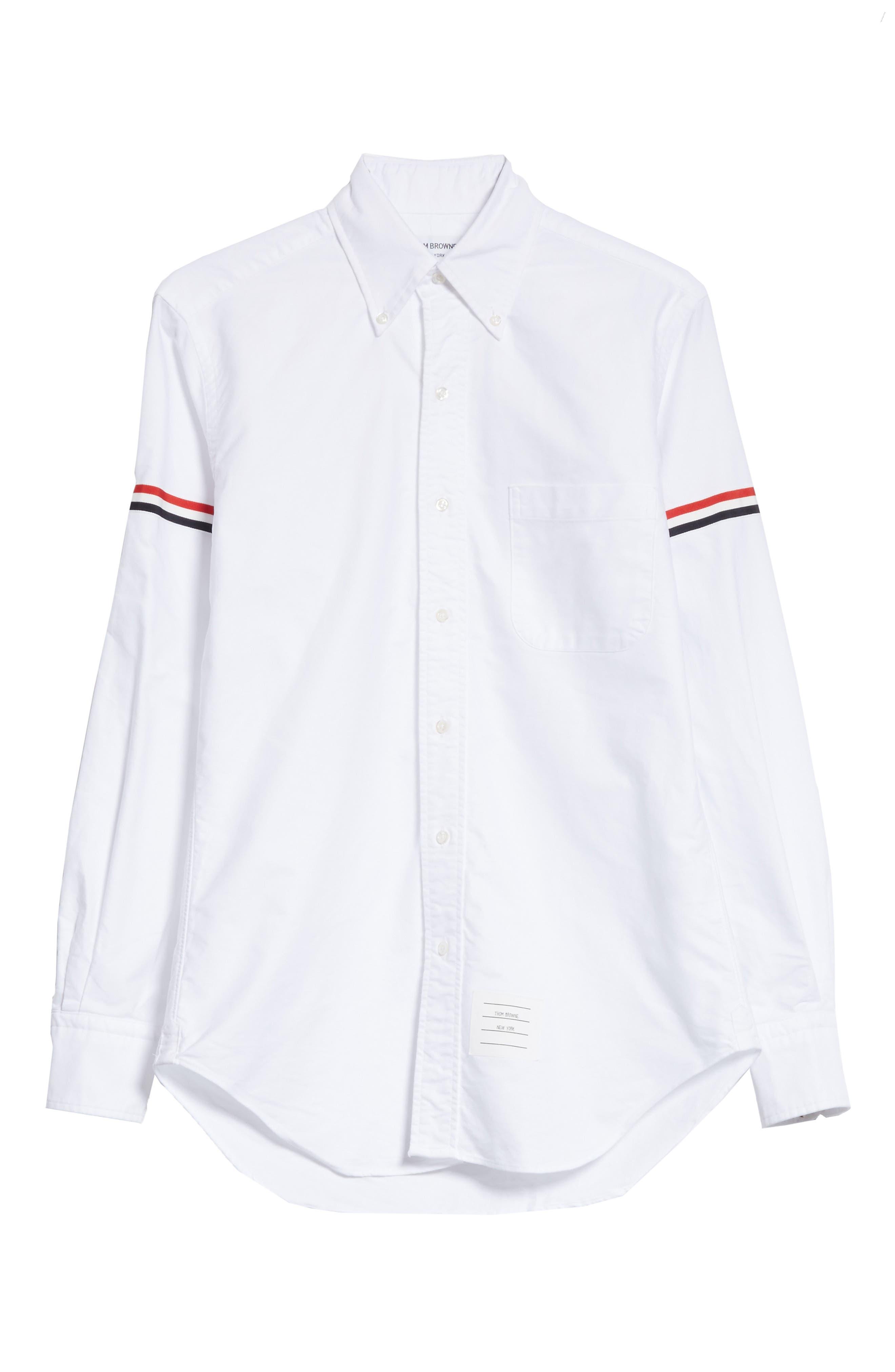 Oxford Shirt,                             Alternate thumbnail 6, color,                             White