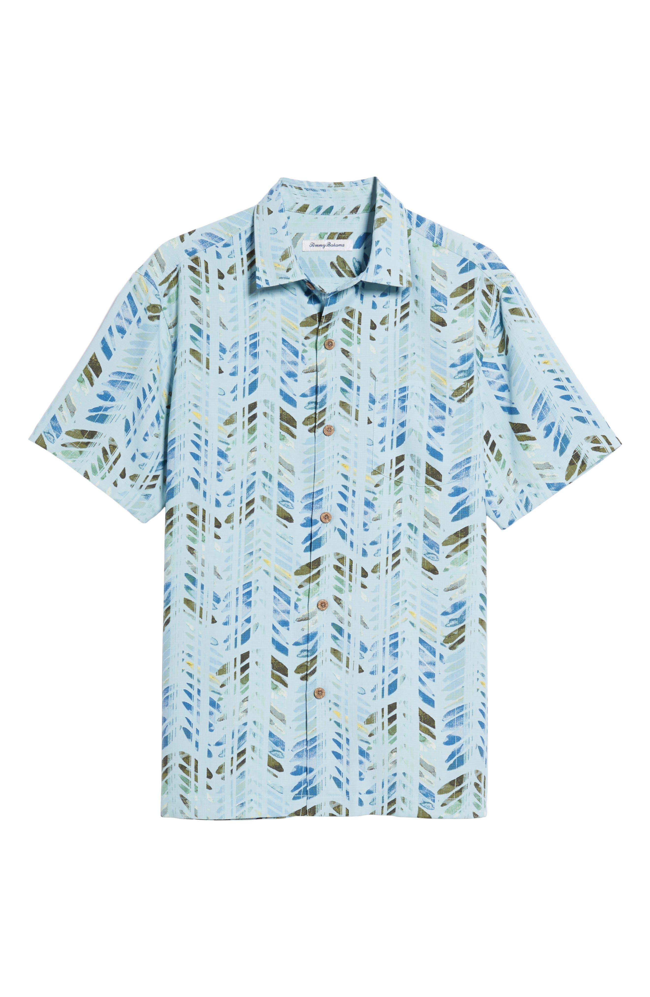 Alternate Image 6  - Tommy Bahama Right on Tide Silk Blend Camp Shirt