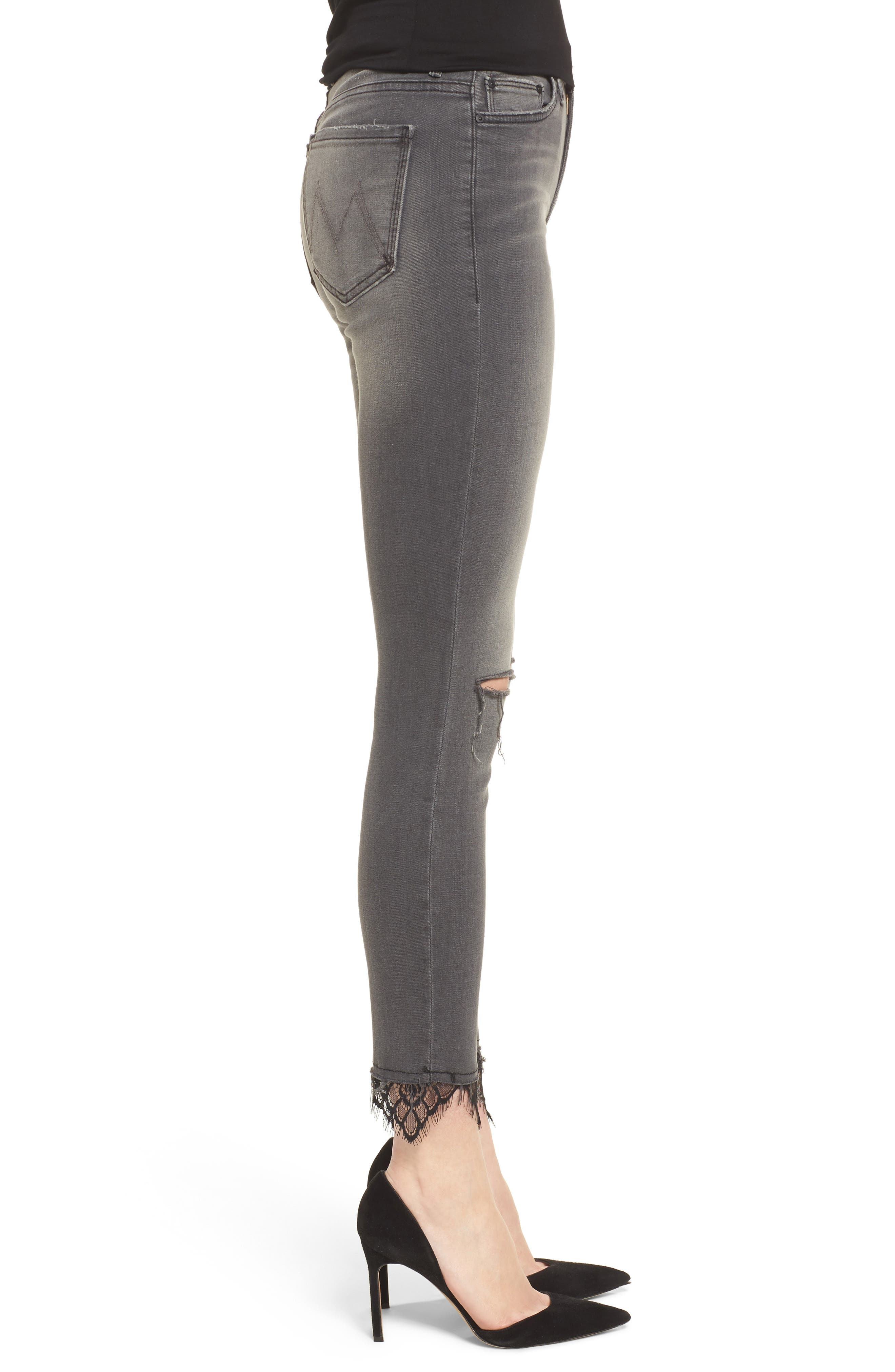 The Looker High Waist Ankle Skinny Jeans,                             Alternate thumbnail 3, color,                             Lacey Saloon