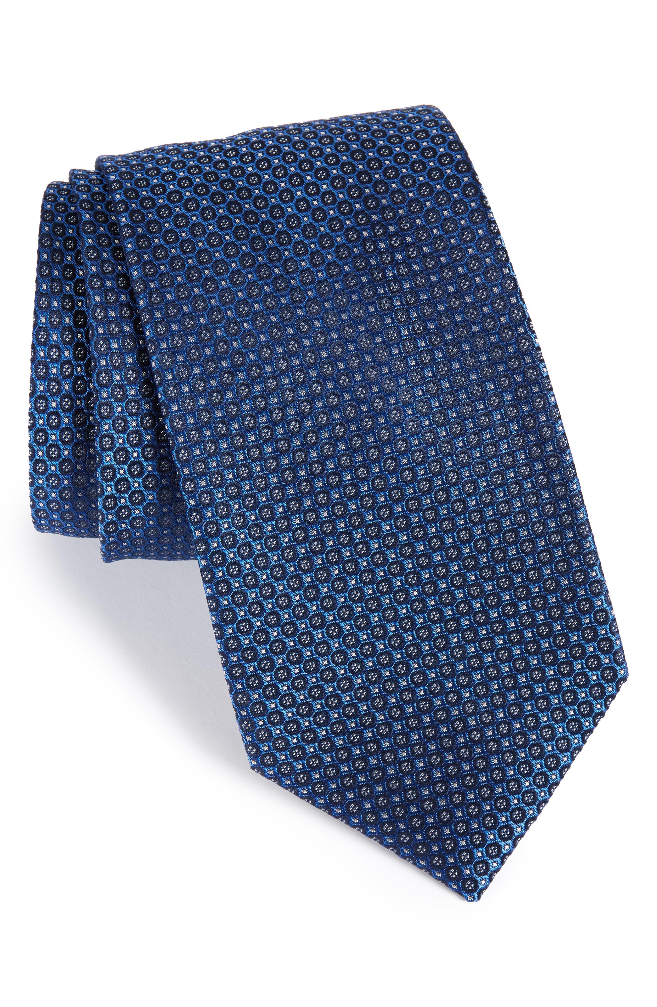 Park Ave Solid Silk Tie,                             Main thumbnail 1, color,                             Sapphire