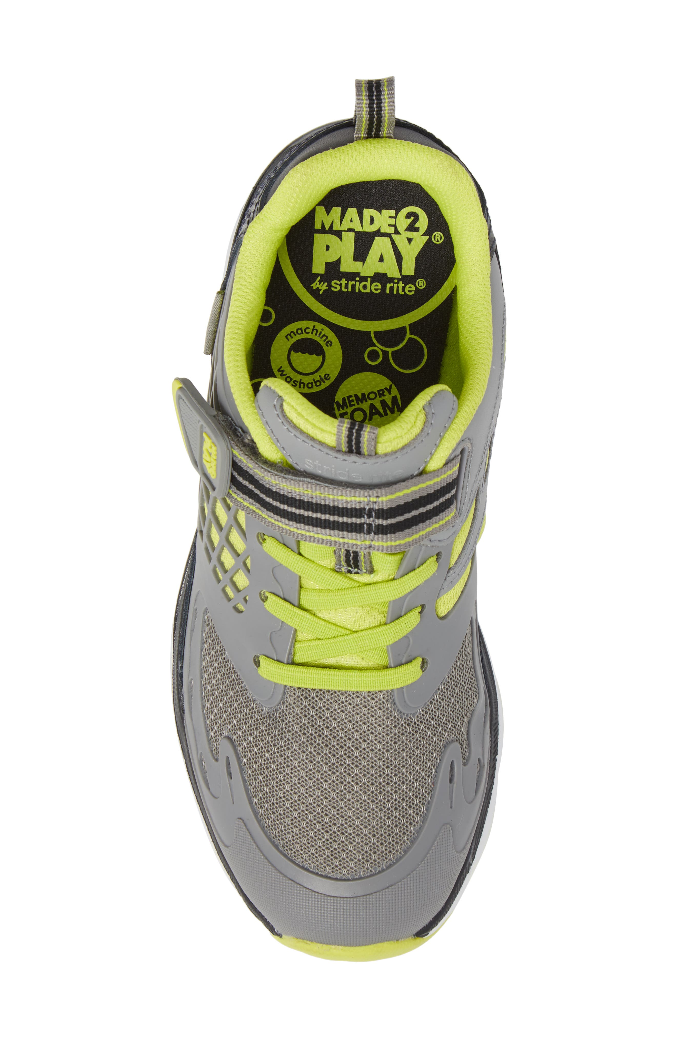 Made 2 Play Breccen Sneaker,                             Alternate thumbnail 5, color,                             Grey/ Lime Leather/ Textile