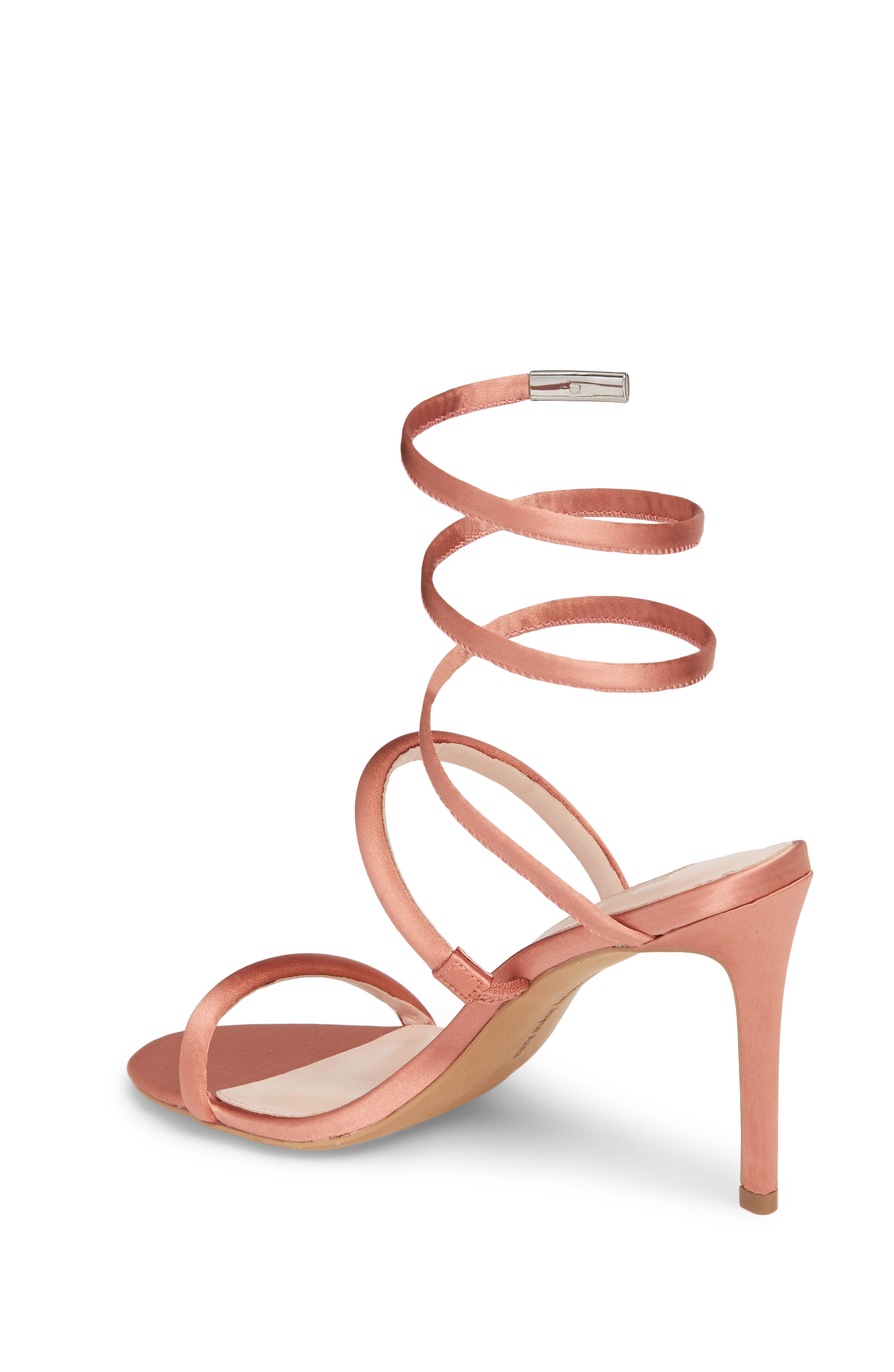 Joia Ankle Wrap Sandal,                             Alternate thumbnail 2, color,                             Dusty Rose Fabric