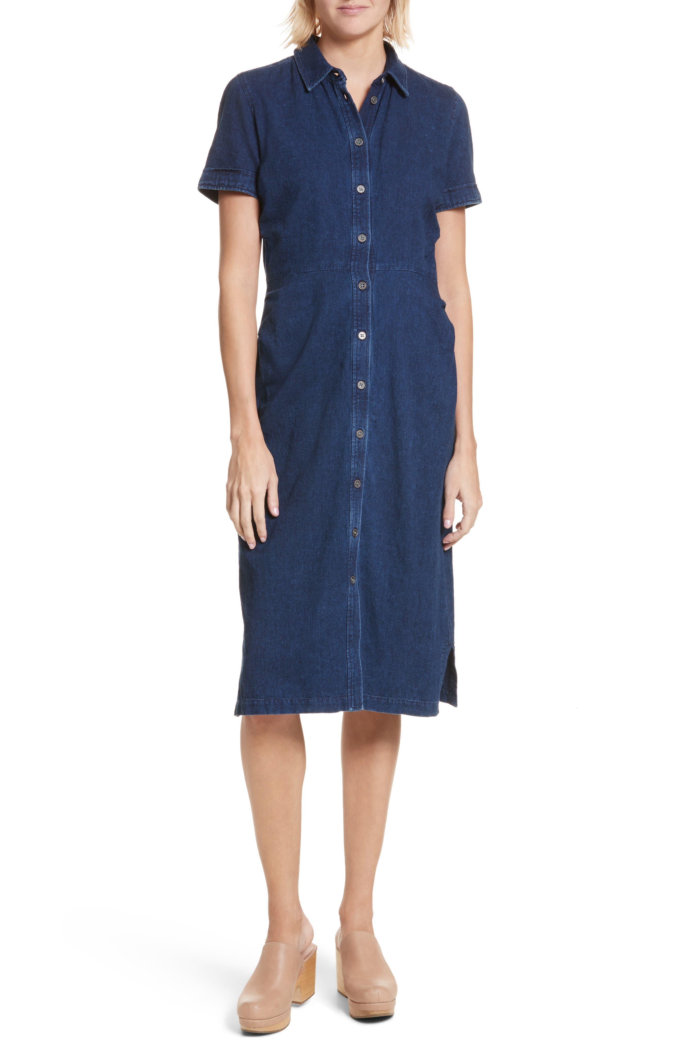 Extend Denim Dress,                         Main,                         color, Dark Indigo