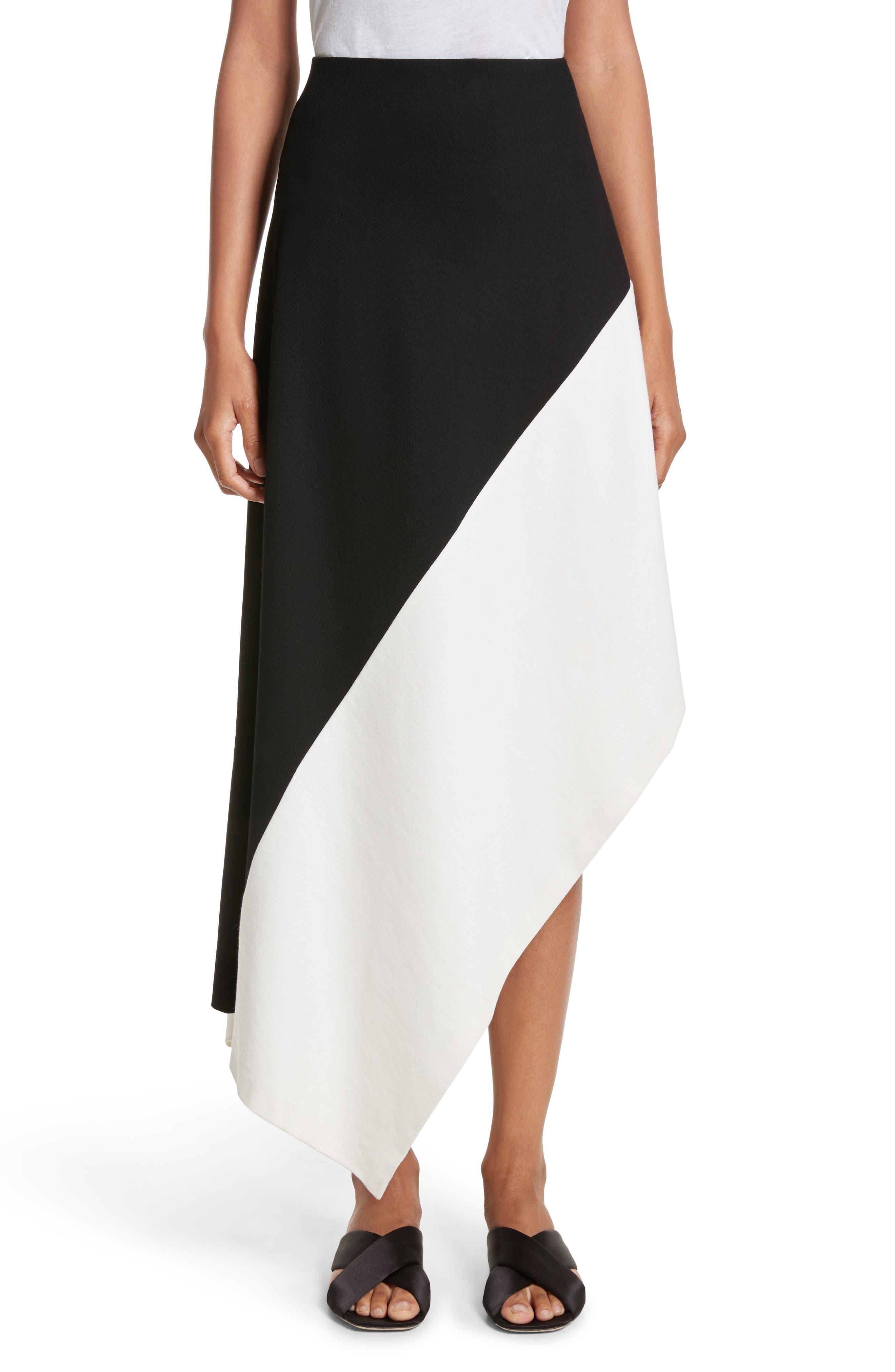 Rosetta Getty Slashed Panel Jersey Skirt
