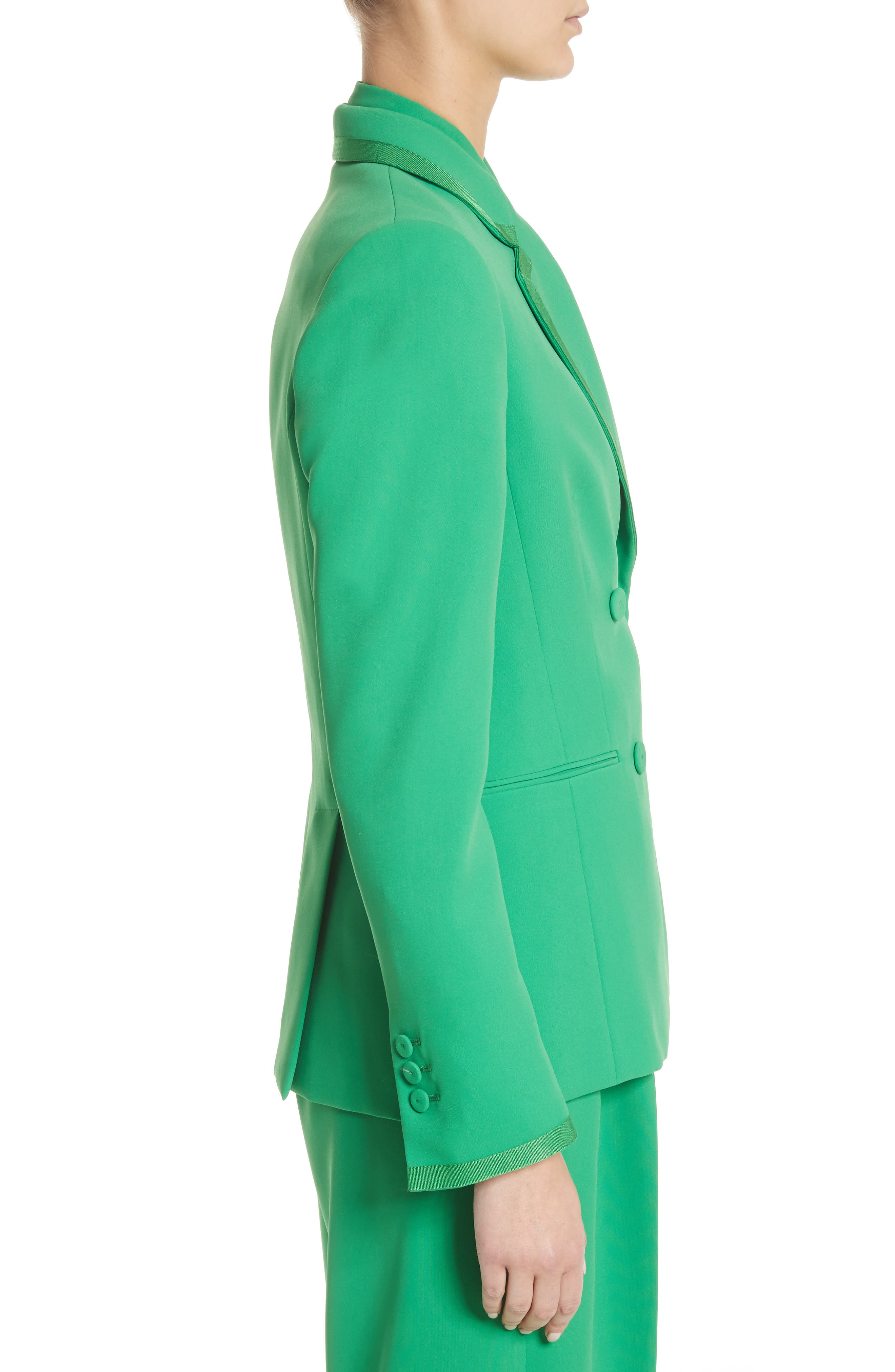 Double Breasted Blazer,                             Alternate thumbnail 4, color,                             Green
