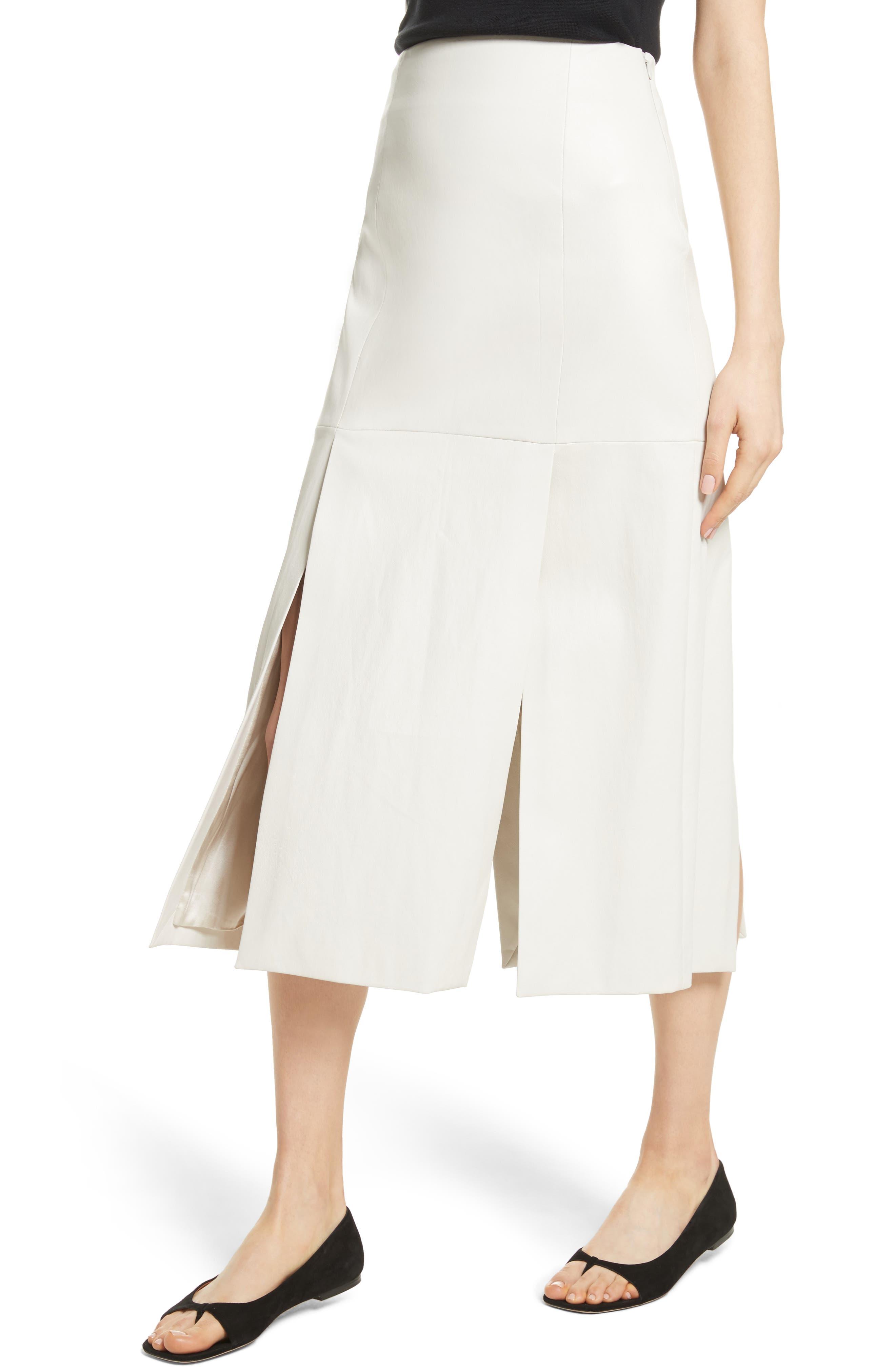 Alternate Image 3  - Rosetta Getty Lambskin Leather Midi Skirt