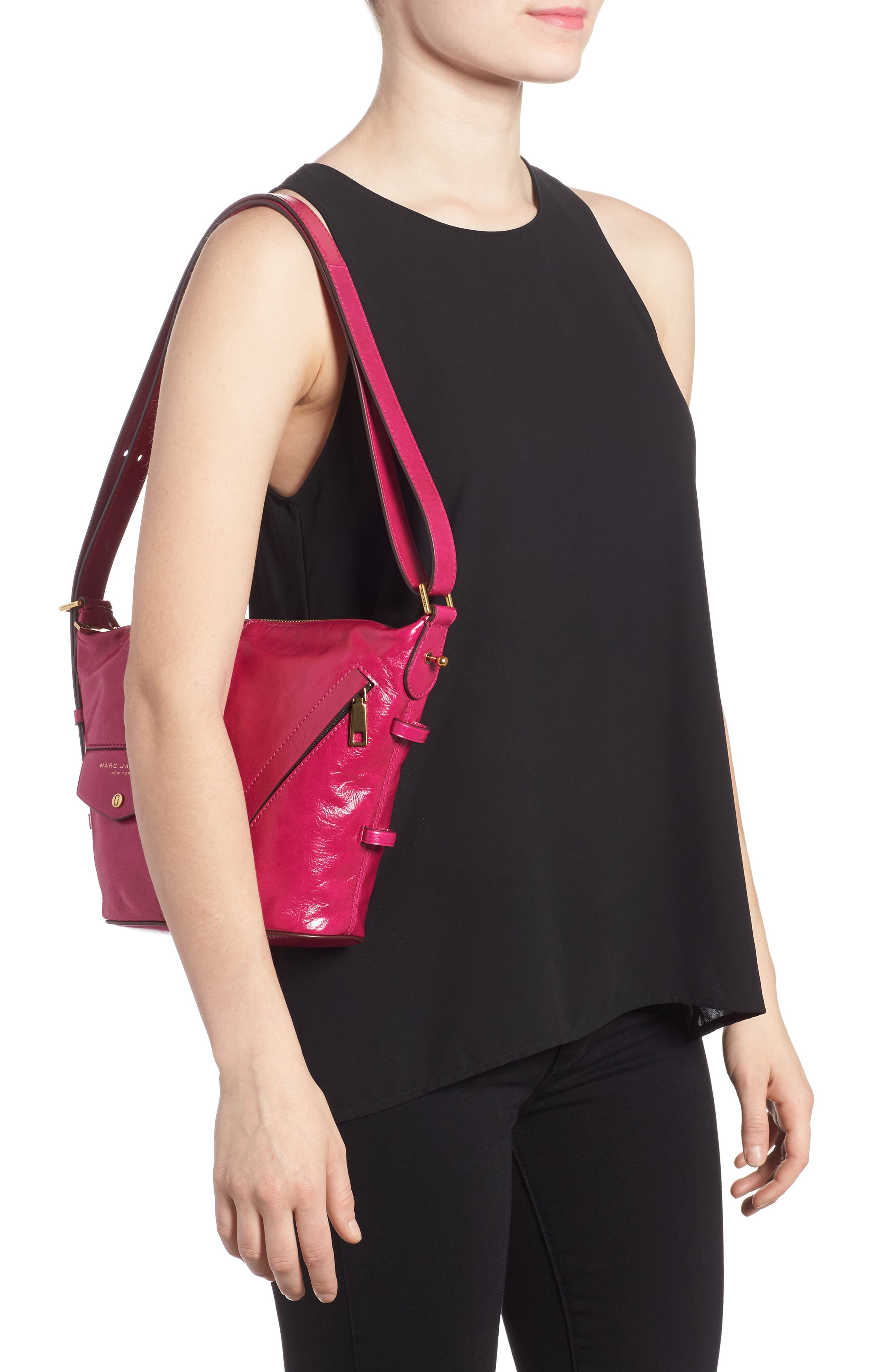 Alternate Image 2  - MARC JACOBS The Vintage Mini Sling Convertible Leather Hobo
