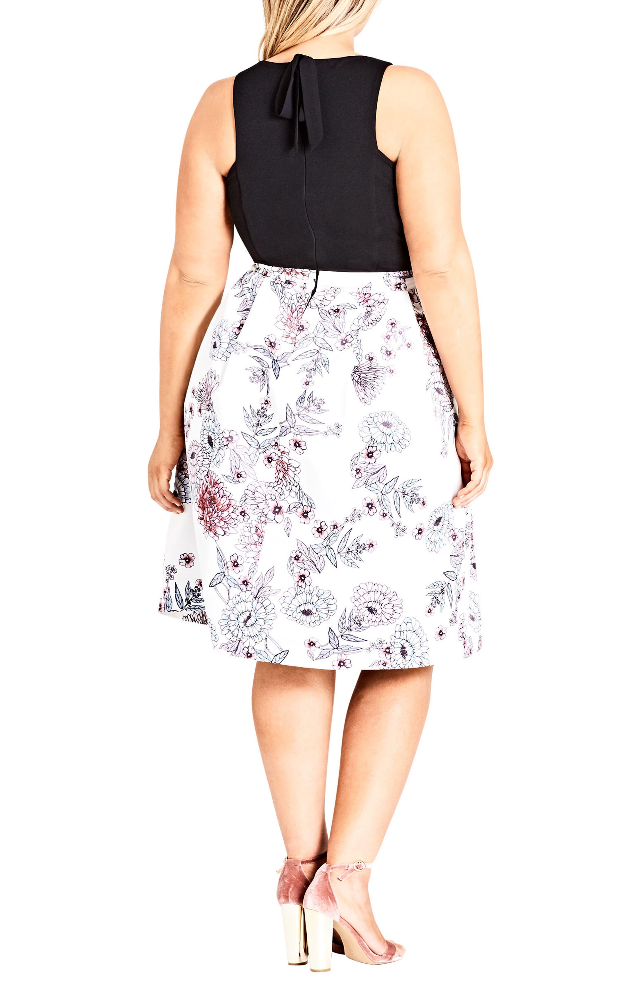 Alternate Image 2  - City Chic Spring Affair Fit & Flare Dress (Plus Size)