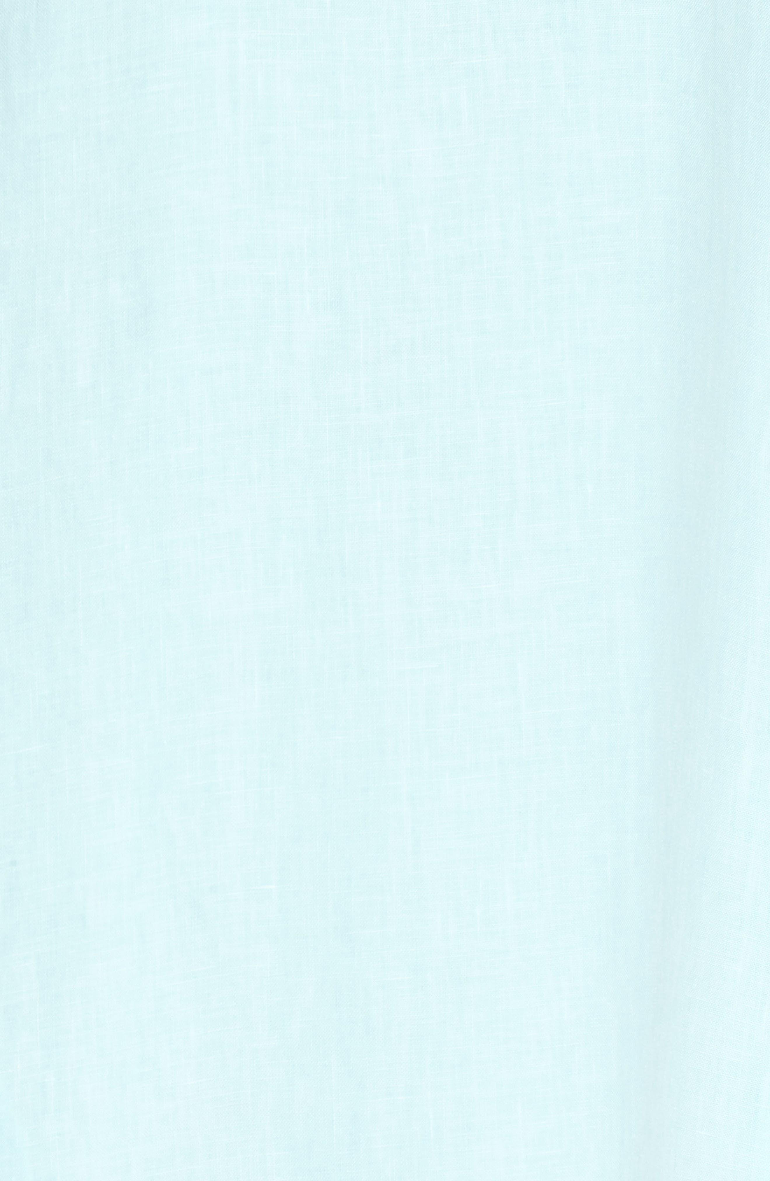Two Palms Frayed Trim Shift Dress,                             Alternate thumbnail 6, color,                             Aqua Mist