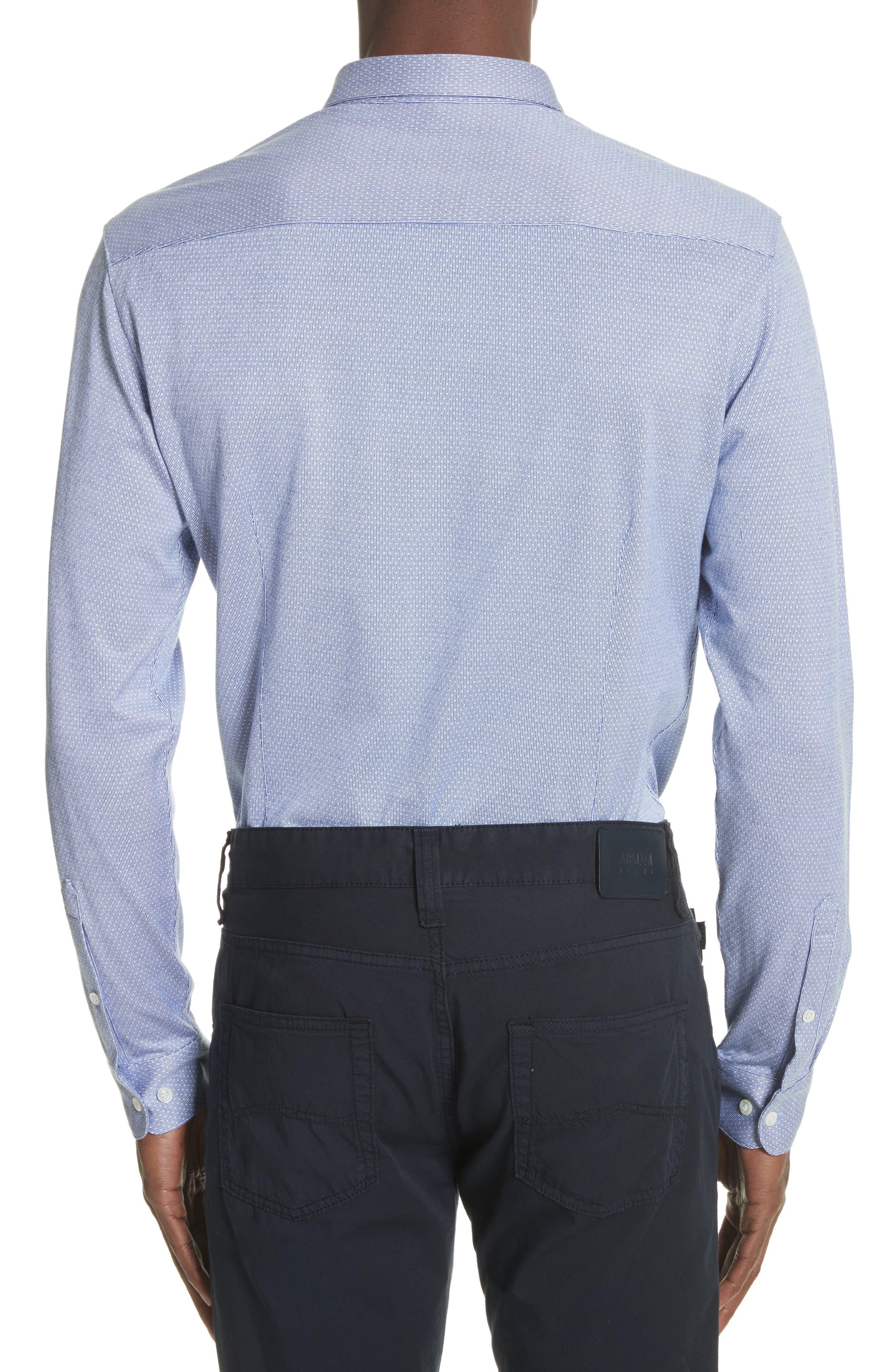 Trim Fit Yarn Dyed Sport Shirt,                             Alternate thumbnail 2, color,                             Fant.Pois Blue