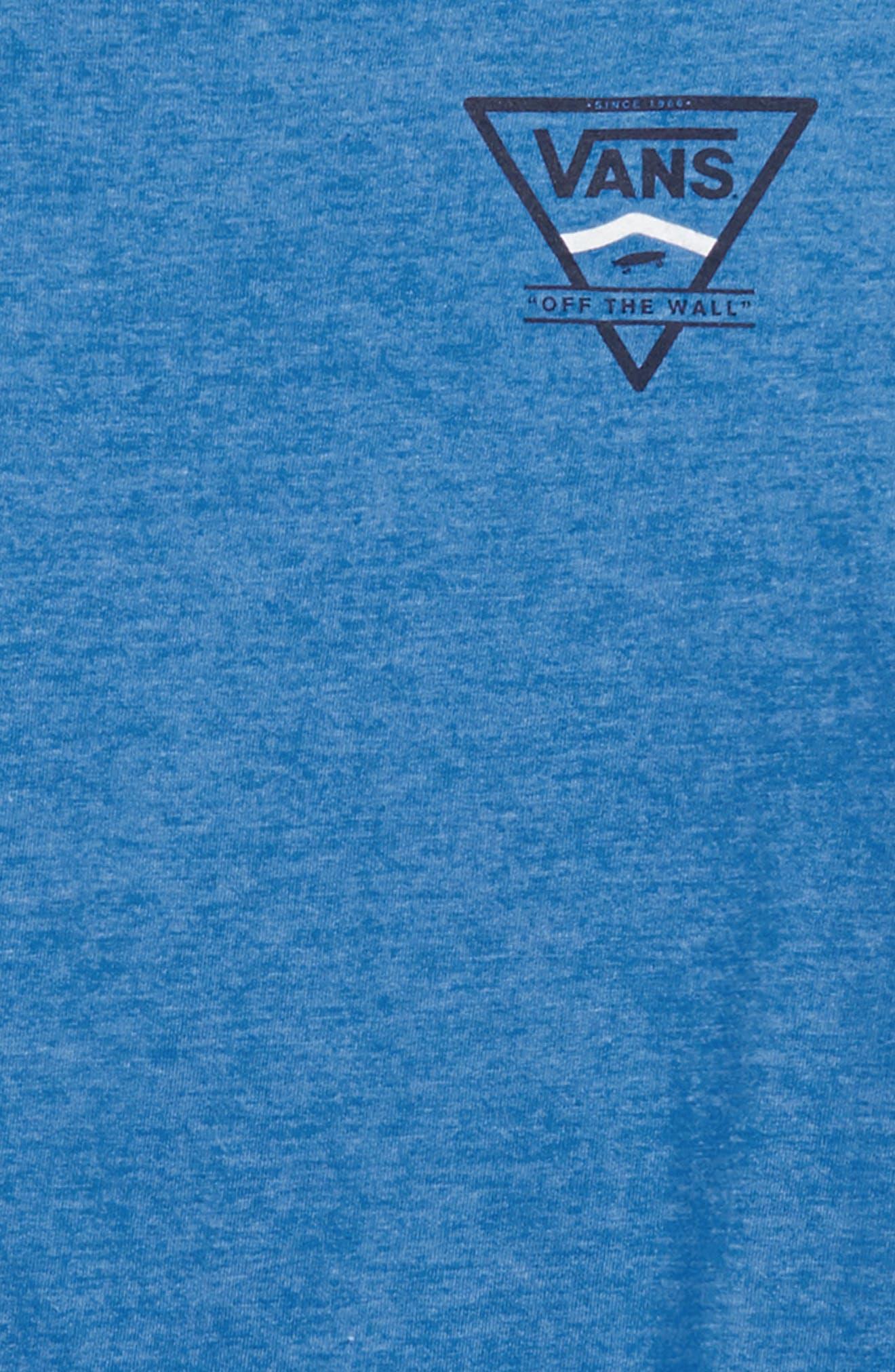 Logo Side Stripe T-Shirt,                             Alternate thumbnail 3, color,                             Royal Heather