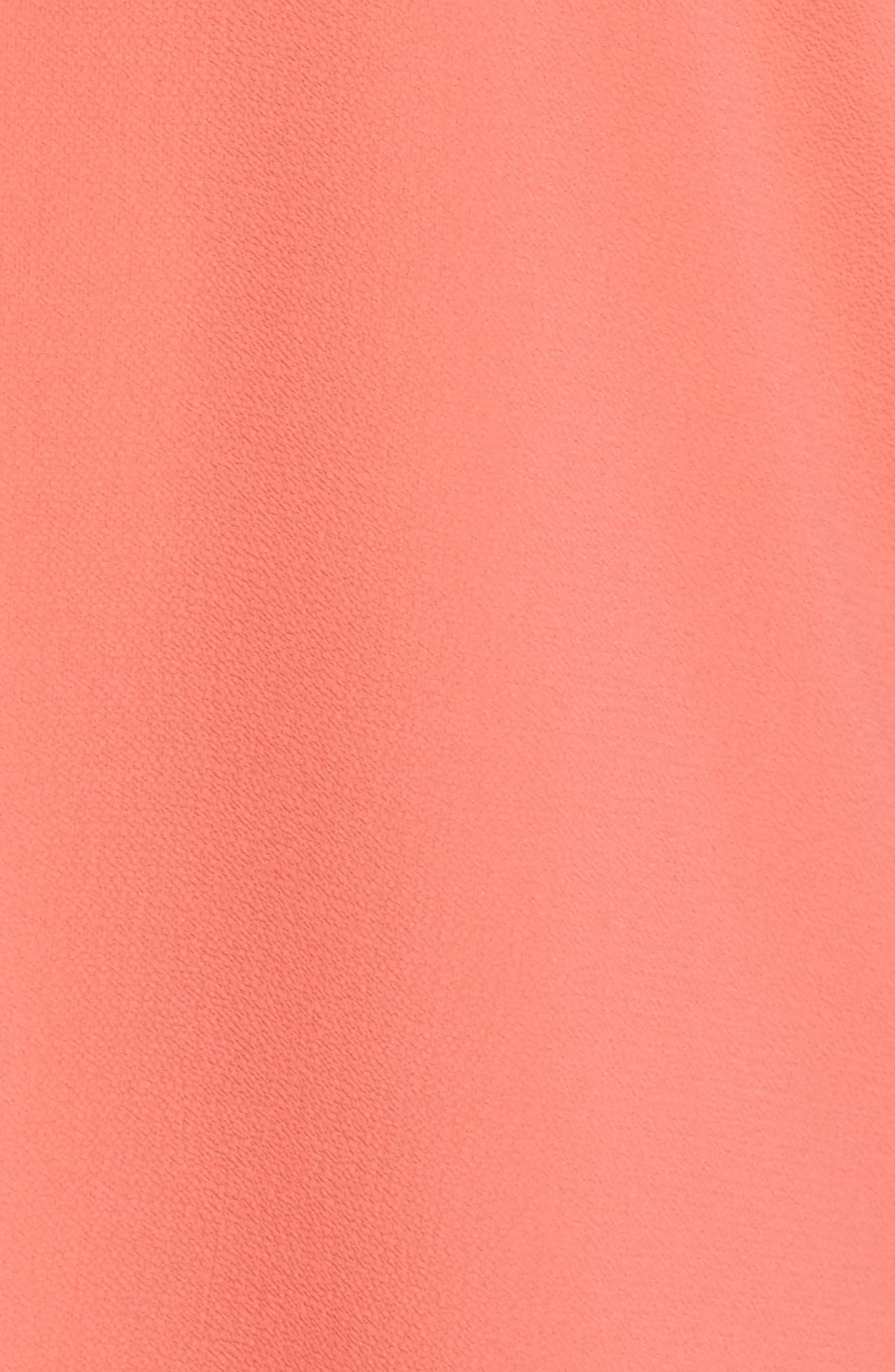 Crepe Blouse,                             Alternate thumbnail 5, color,                             Melon