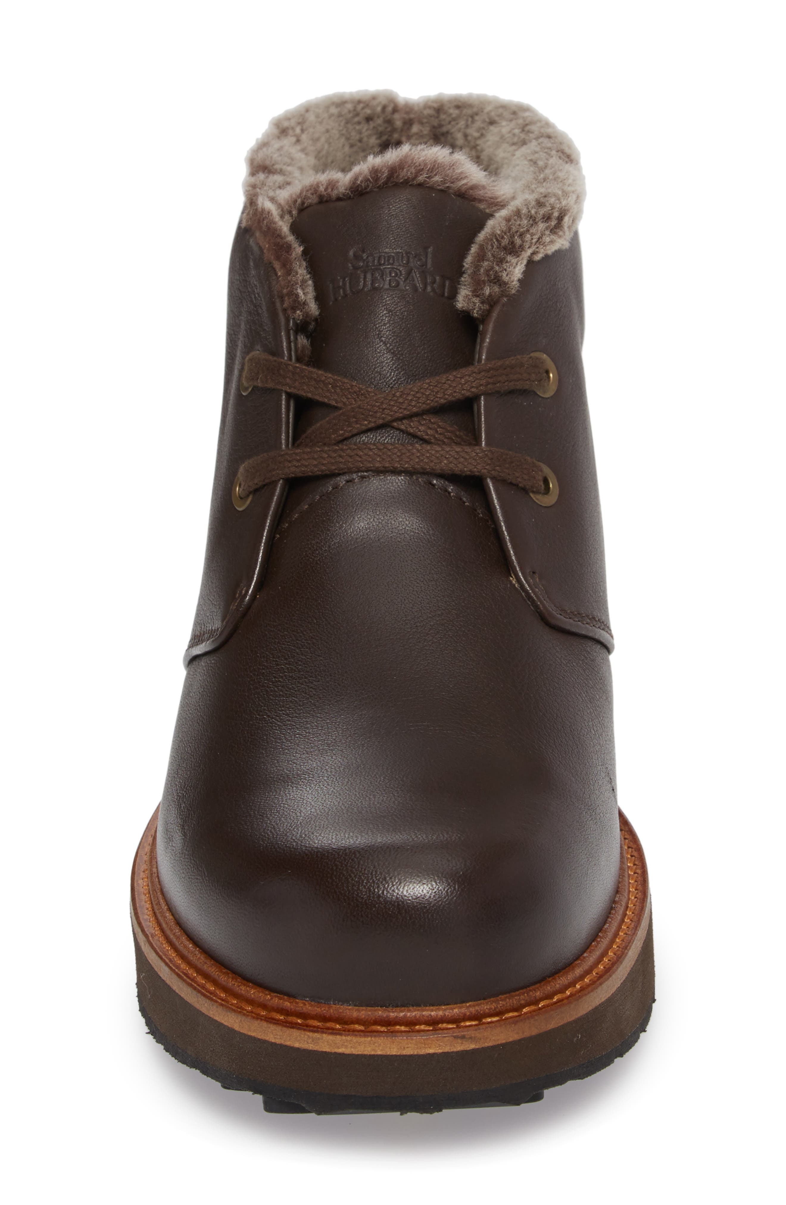 Winter's Day Waterproof Gore-Tex<sup>®</sup> Genuine Shearling Lined Chukka Boot,                             Alternate thumbnail 4, color,                             Espresso Brown Leather