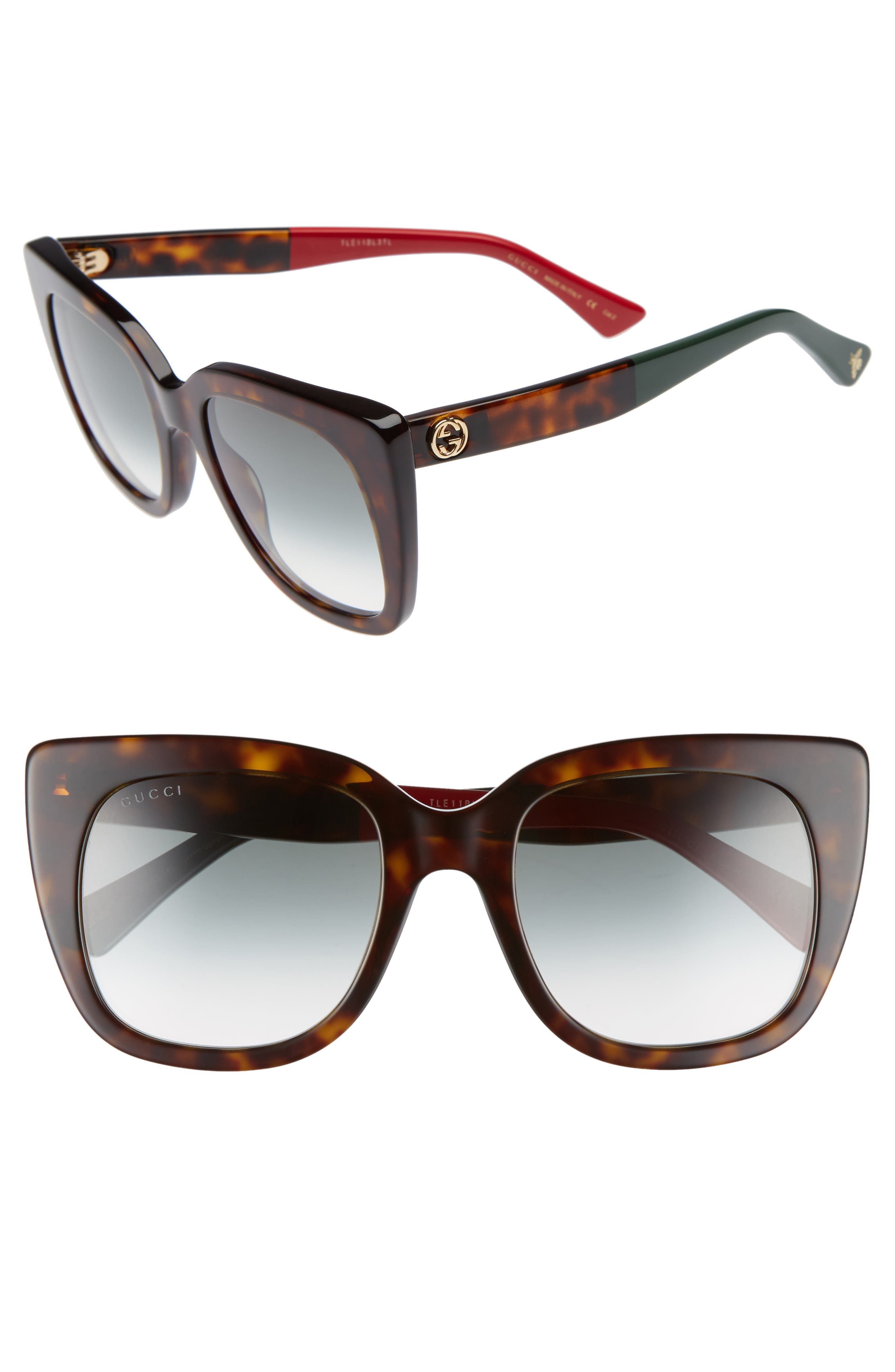 Gucci 51mm Cat Eye Sunglasses
