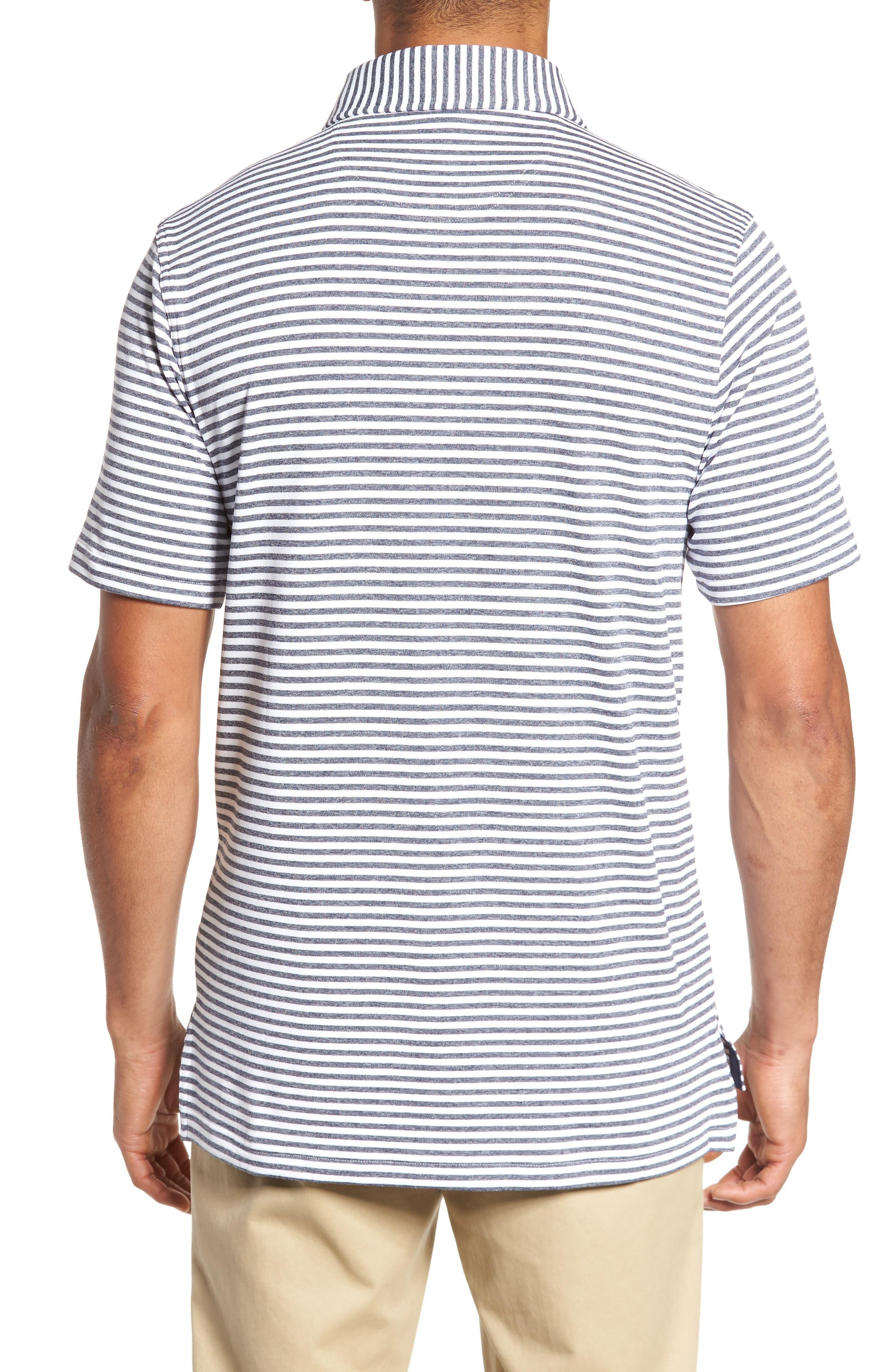 XH2O Tranquil Stripe Jersey Polo,                             Alternate thumbnail 2, color,                             White