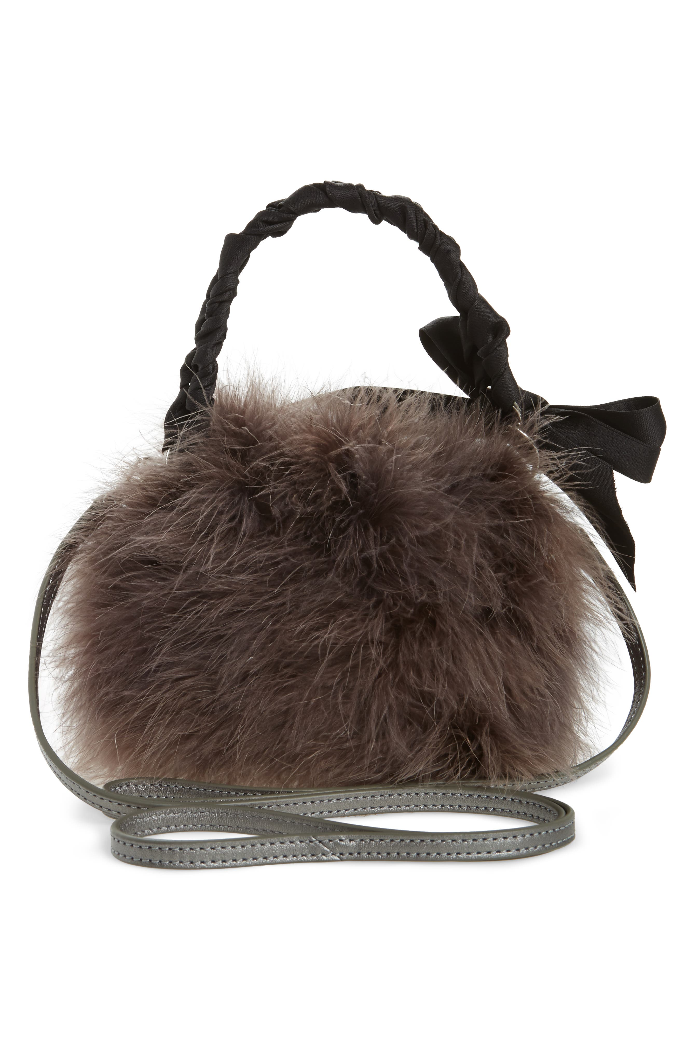 Alternate Image 3  - Frances Valentine Small Calfskin Leather & Feather Bucket Bag