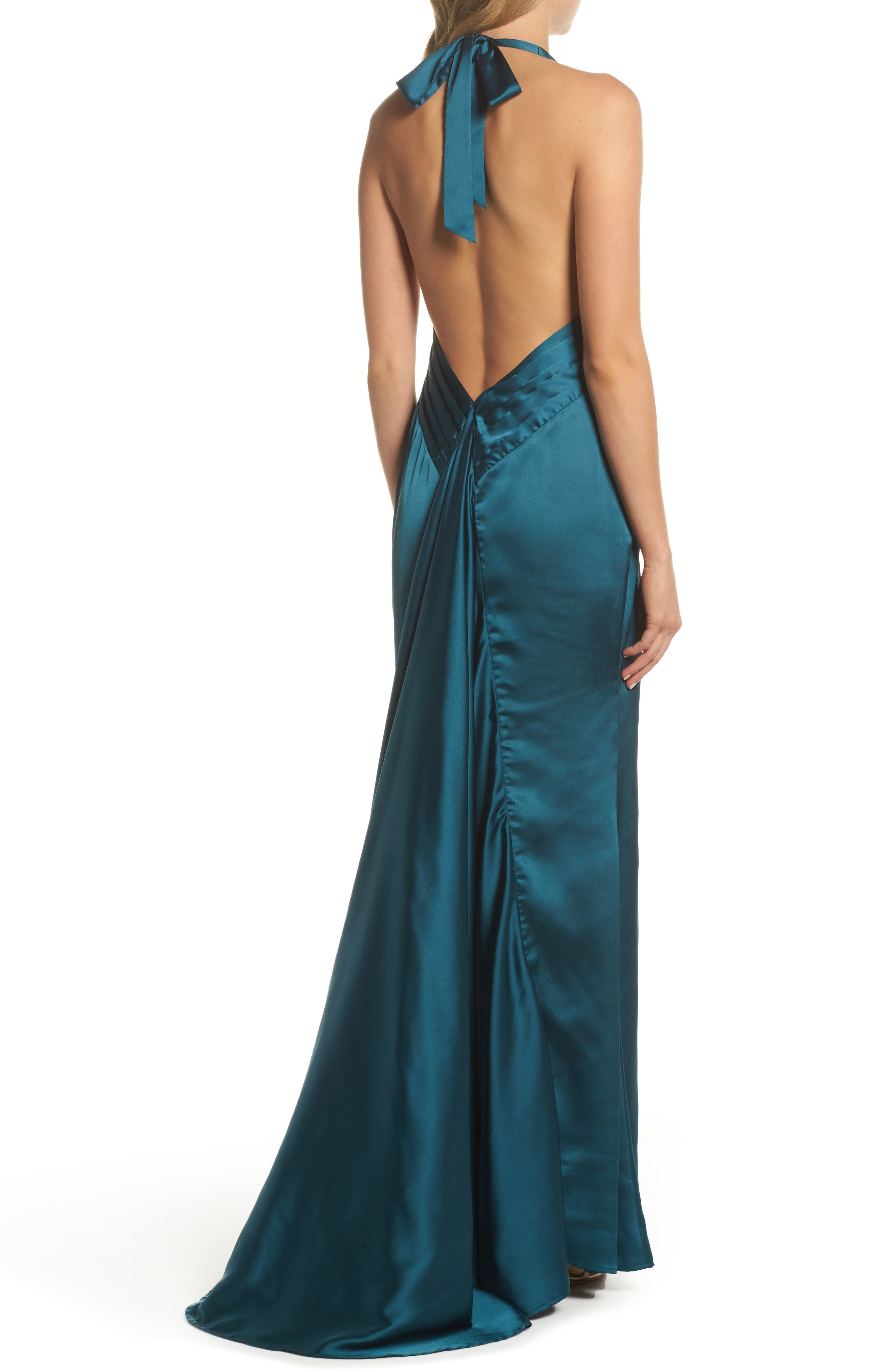 Trixie Halter Gown,                             Alternate thumbnail 2, color,                             Green