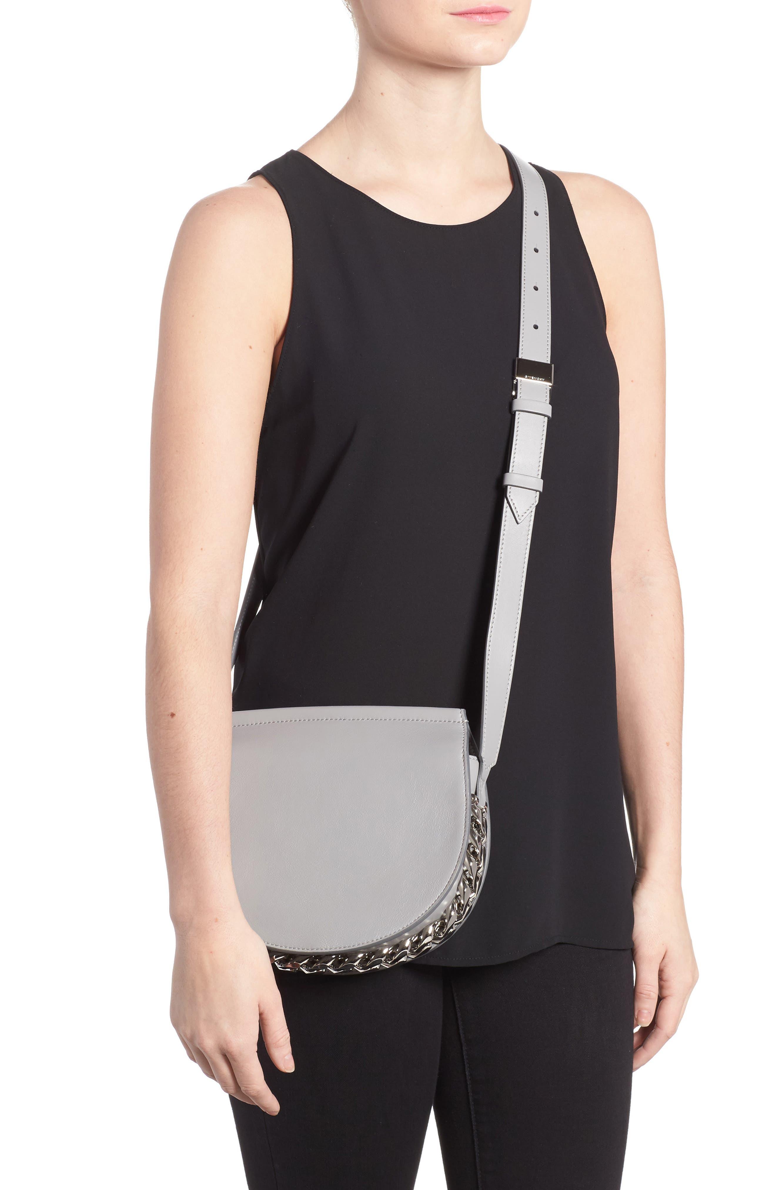 Alternate Image 2  - Givenchy Mini Infinity Calfskin Leather Saddle Bag