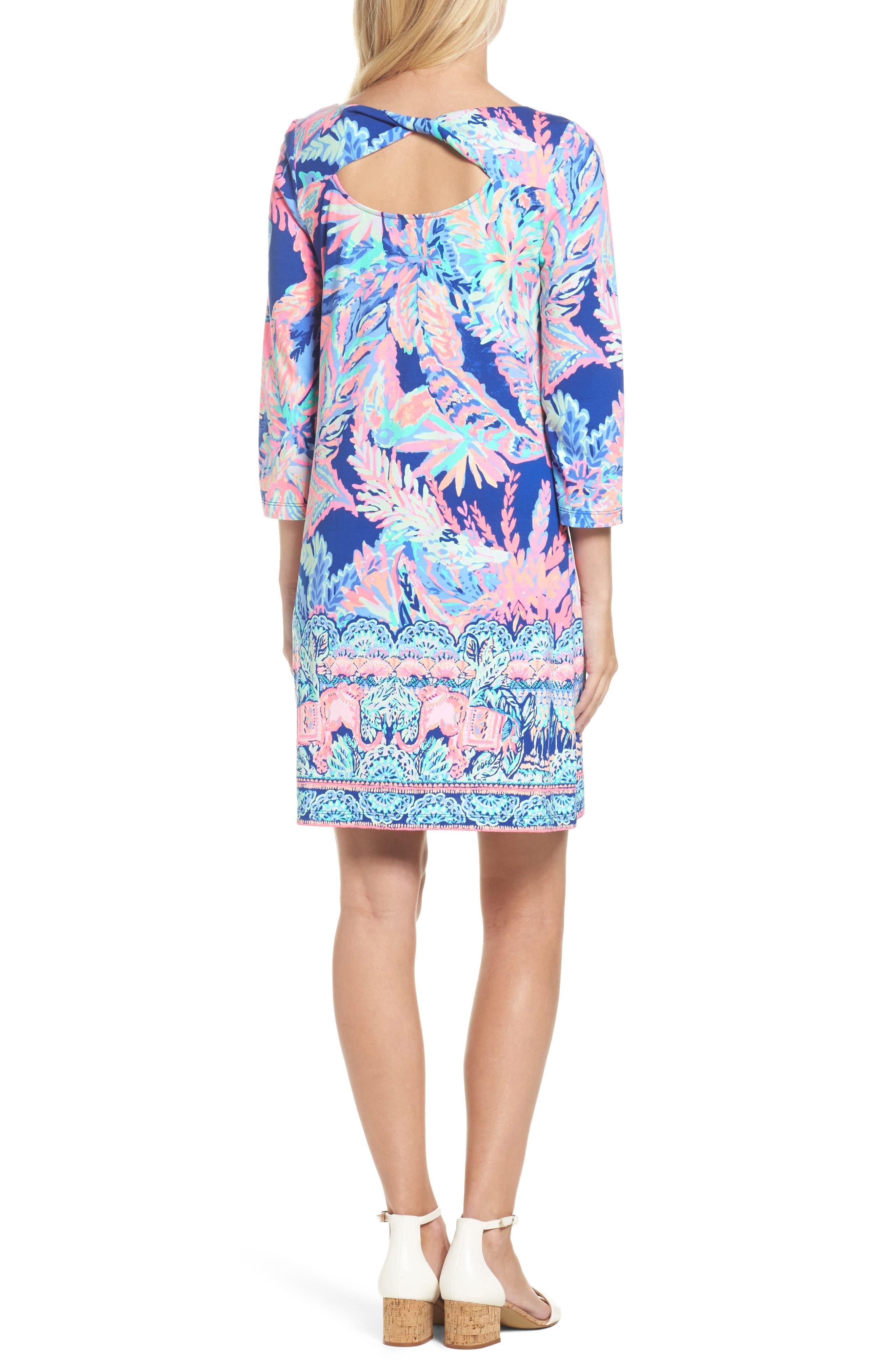 Bay Shift Dress,                             Alternate thumbnail 2, color,                             Multi Sunset Safari Engineered