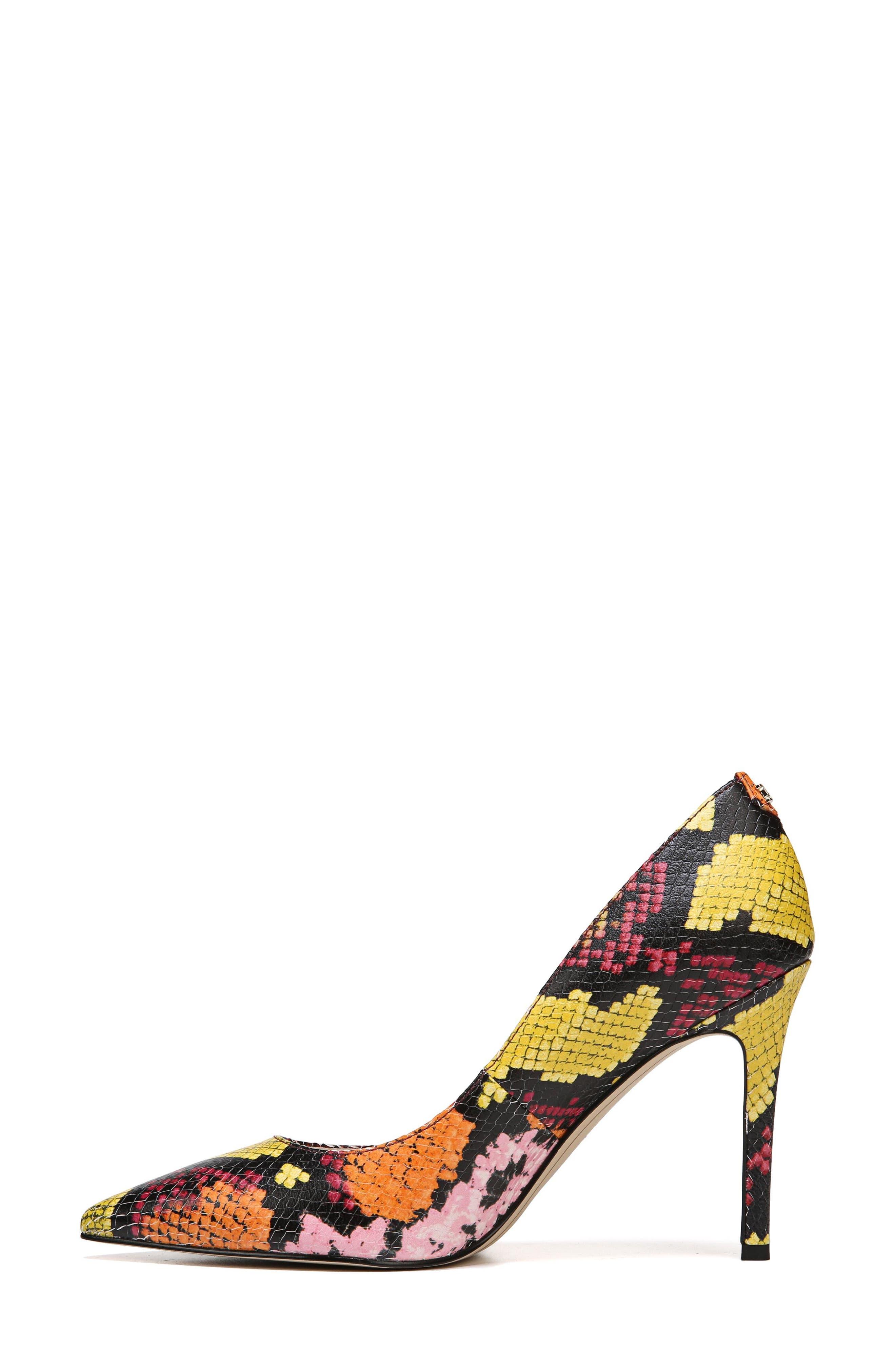 Hazel Pointy Toe Pump,                             Alternate thumbnail 8, color,                             Rainbow Multi Snake Print