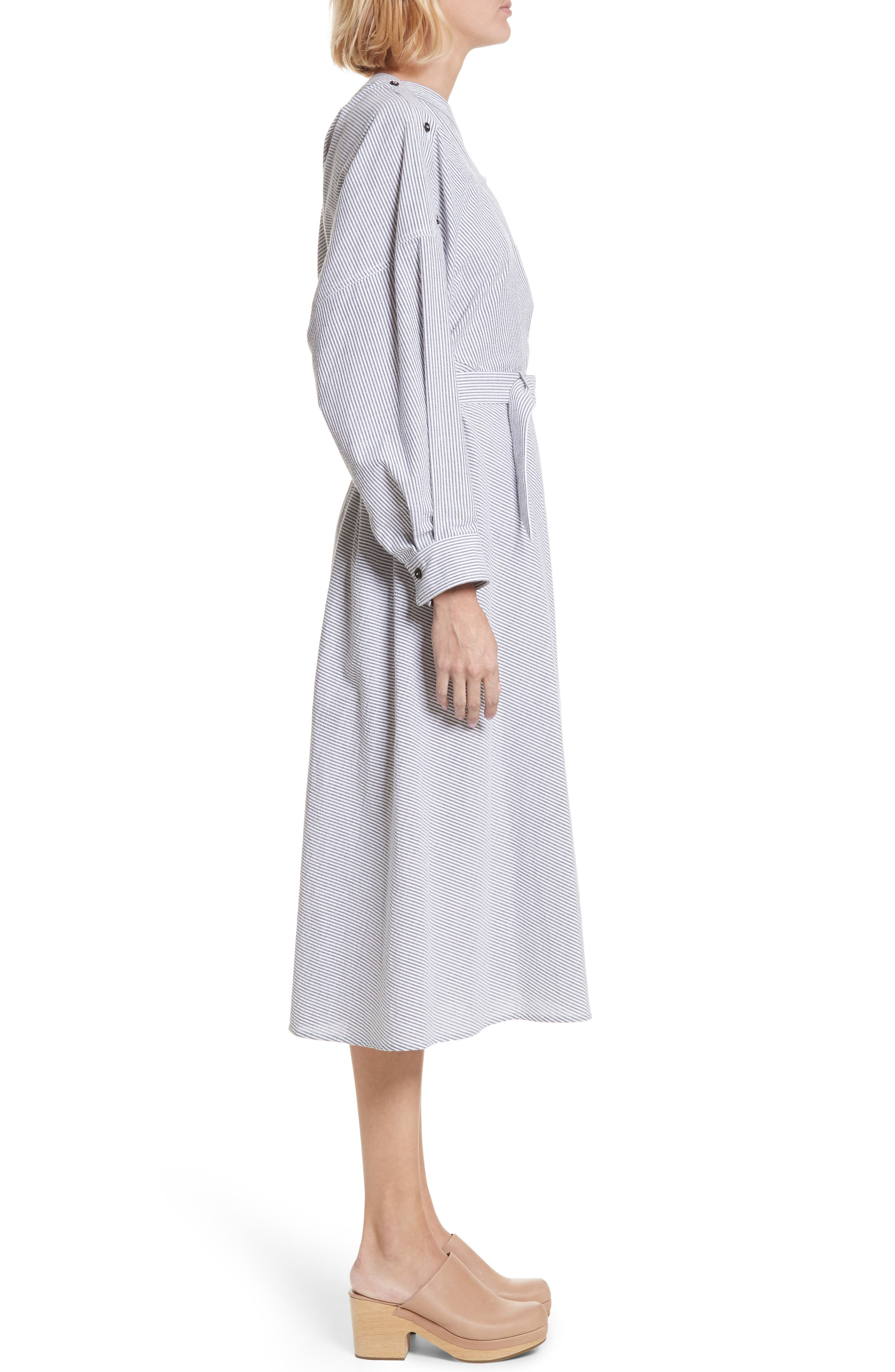 Welcome Asymmetrical Dress,                             Alternate thumbnail 3, color,                             Black/ White