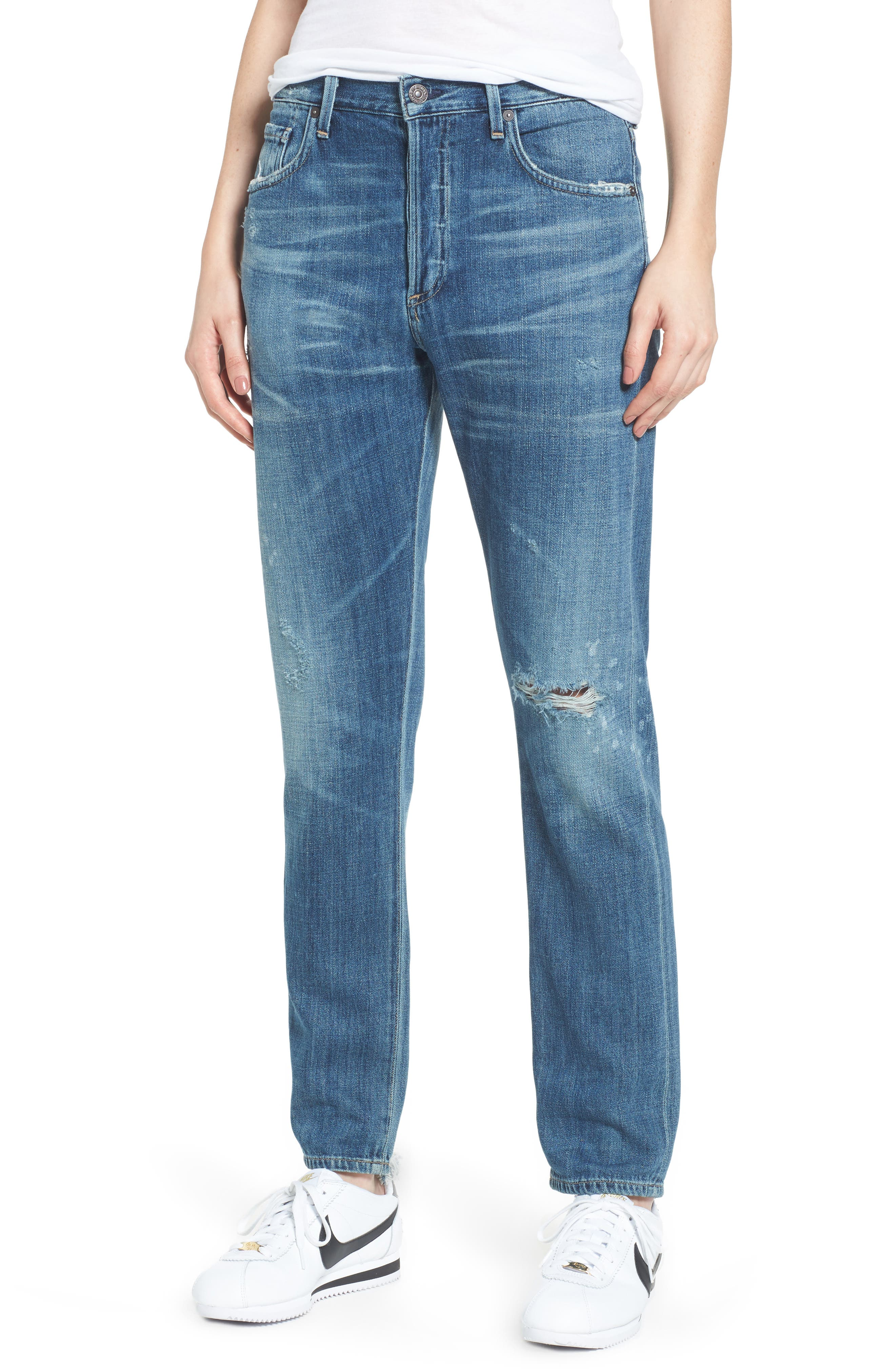 Corey Slouchy Slim Jeans,                         Main,                         color, Manteca