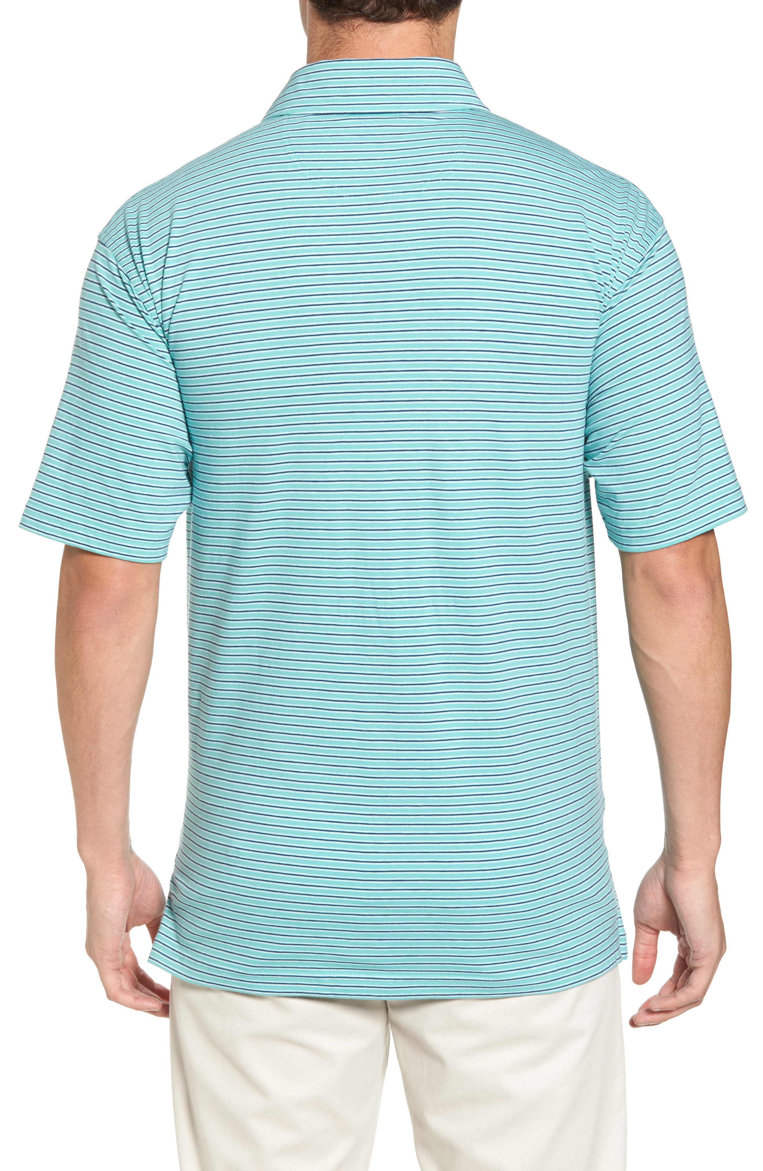 Crest Stripe Polo,                             Alternate thumbnail 2, color,                             Wintergreen