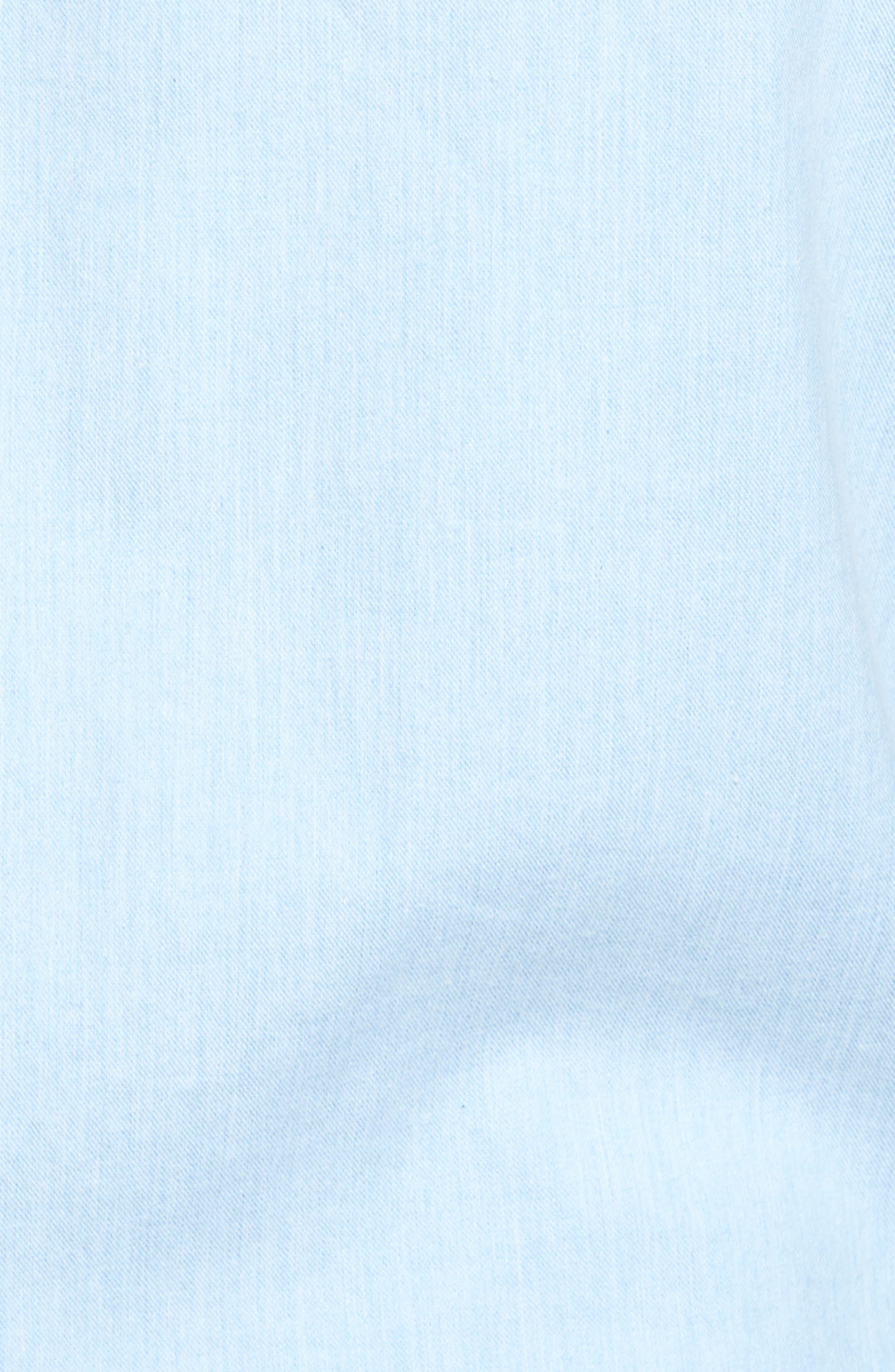 'Sinclair' Trim Fit Brushed Twill Sport Shirt,                             Alternate thumbnail 5, color,                             Stonewash
