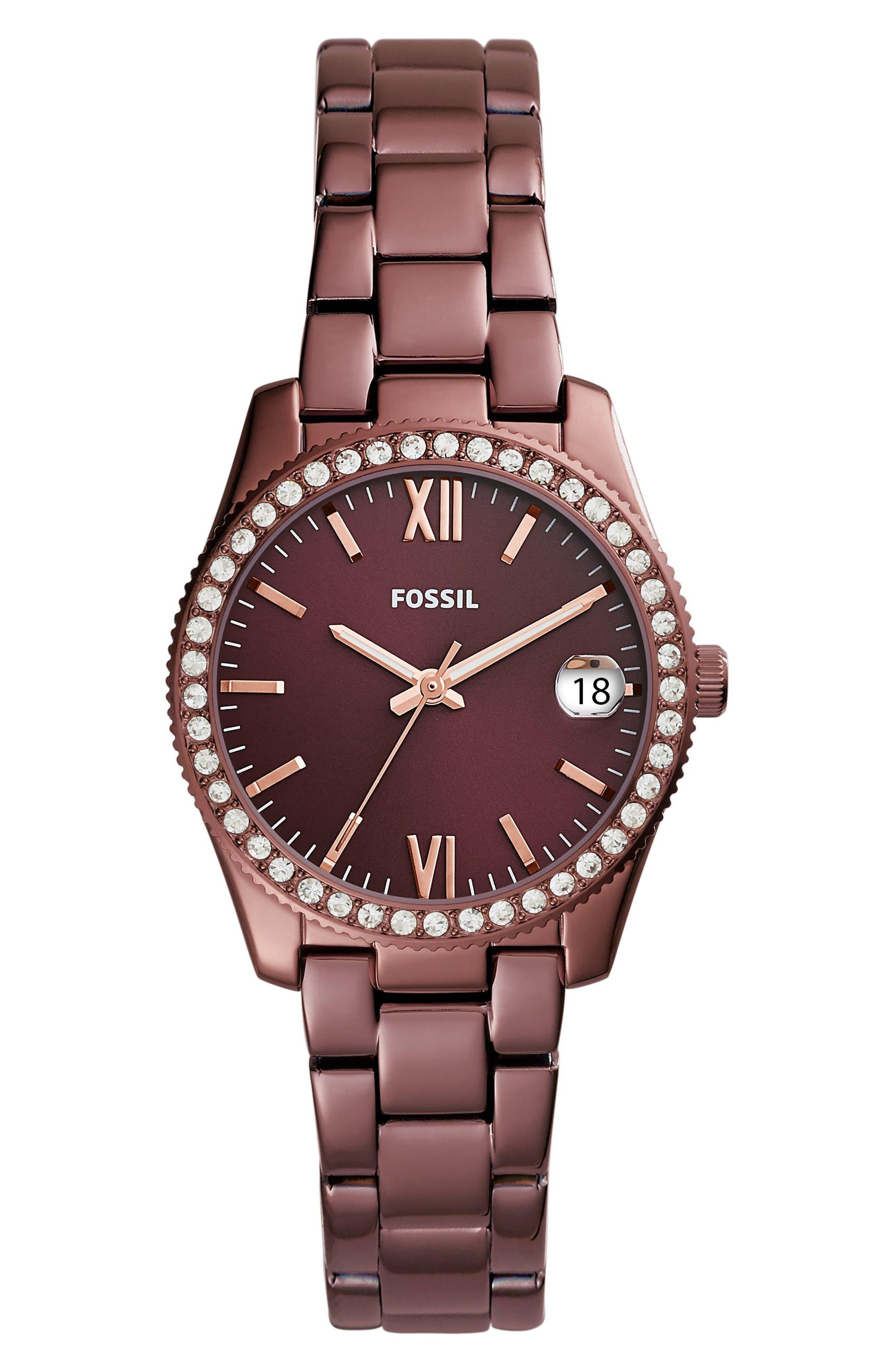 Scarlette Crystal Bracelet Watch, 32mm,                         Main,                         color, Red