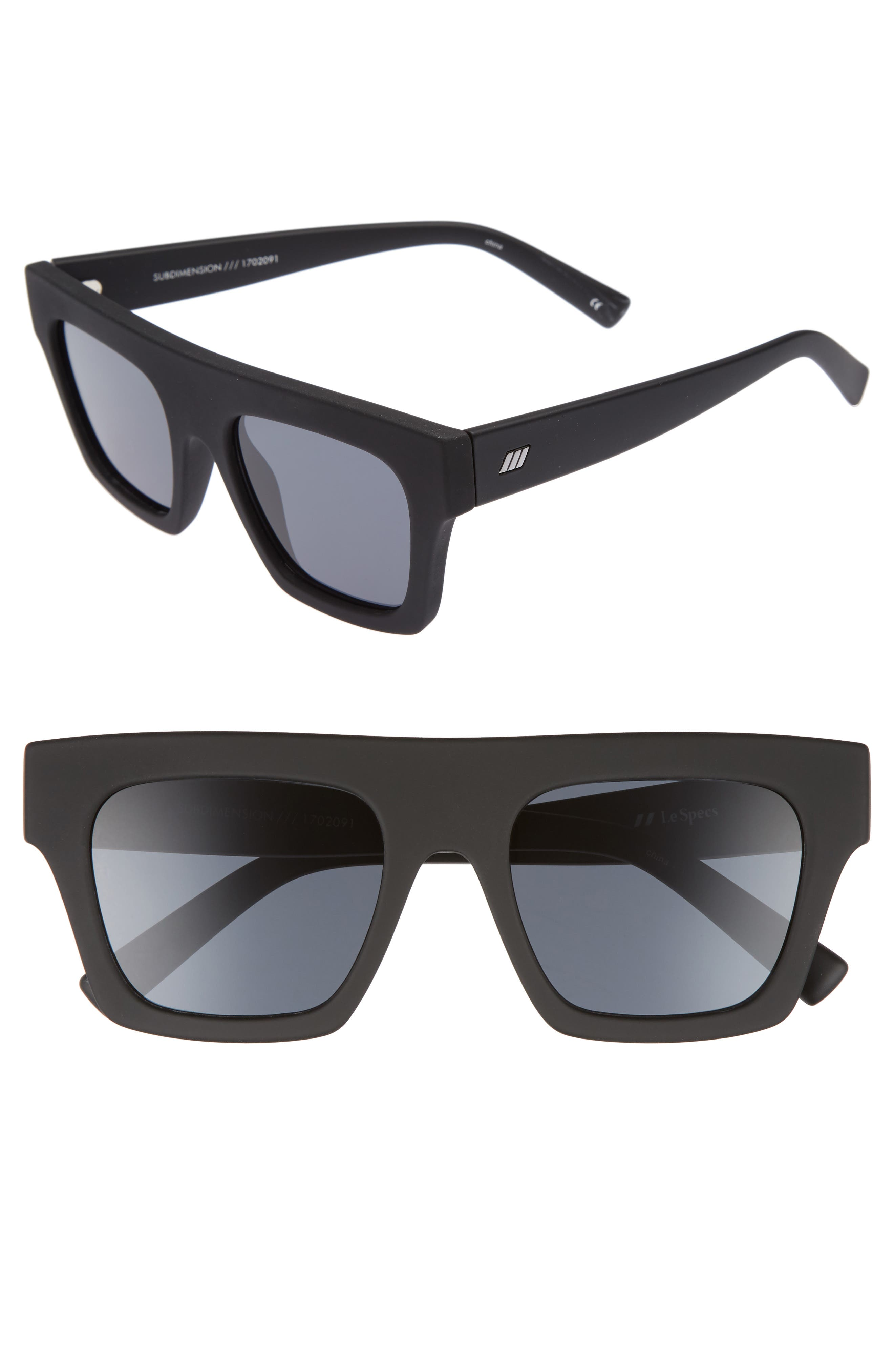 Subdimension 51mm Sunglasses,                         Main,                         color, Black Rubber