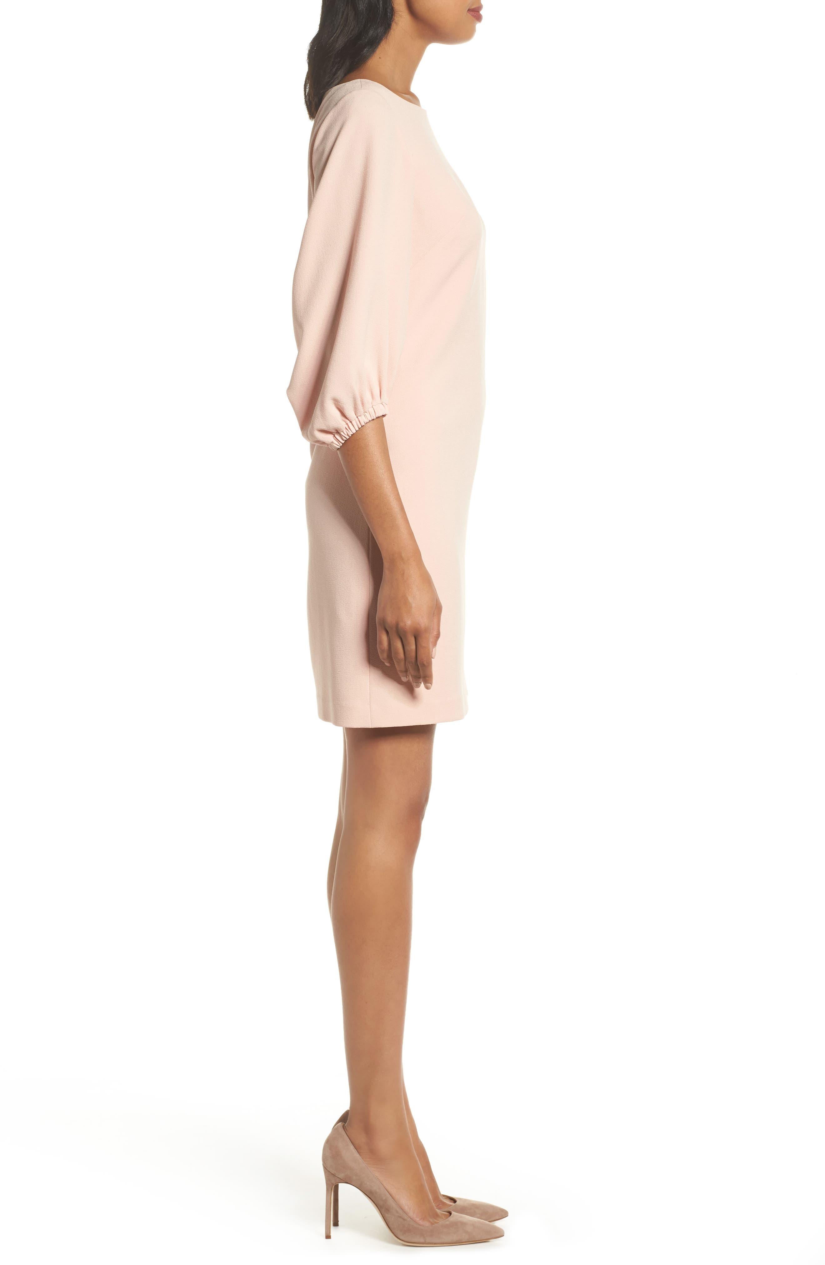 Bloused Sleeve Shift Dress,                             Alternate thumbnail 3, color,                             Blush