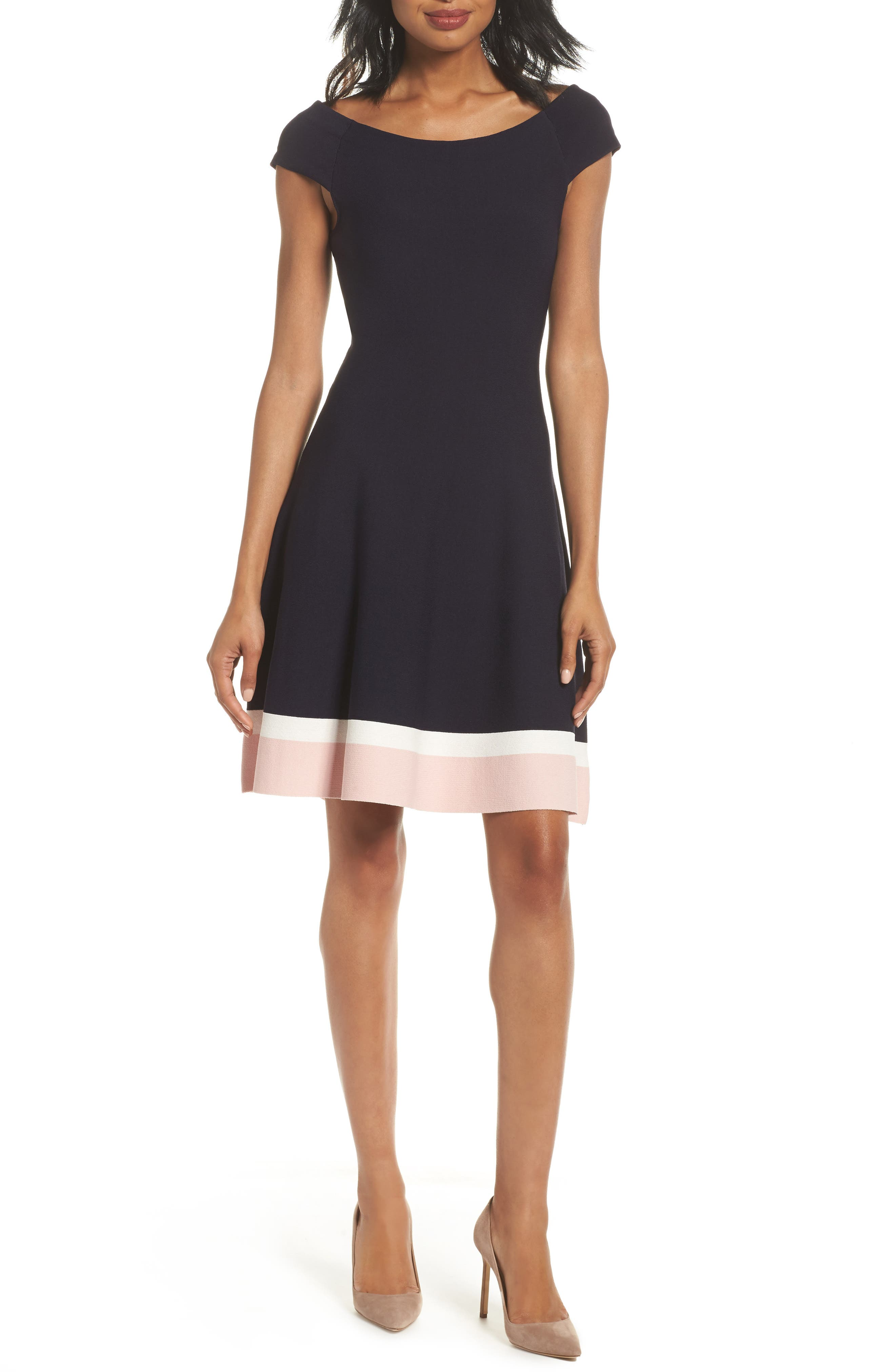 Main Image - Eliza J Fit & Flare Dress