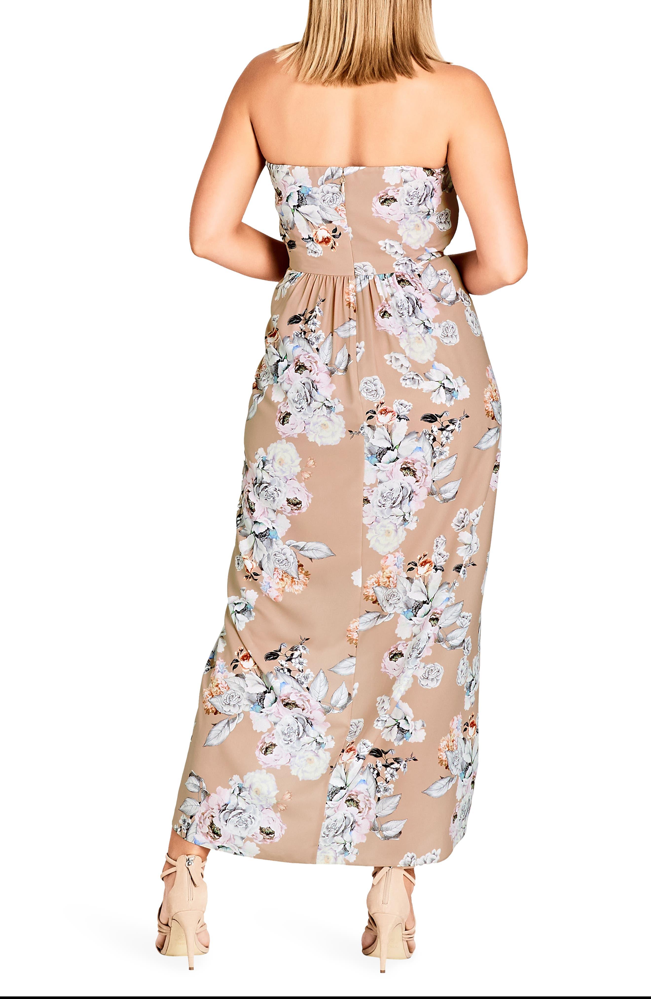 Paper Floral Print Maxi Dress,                             Alternate thumbnail 2, color,                             Paper Floral