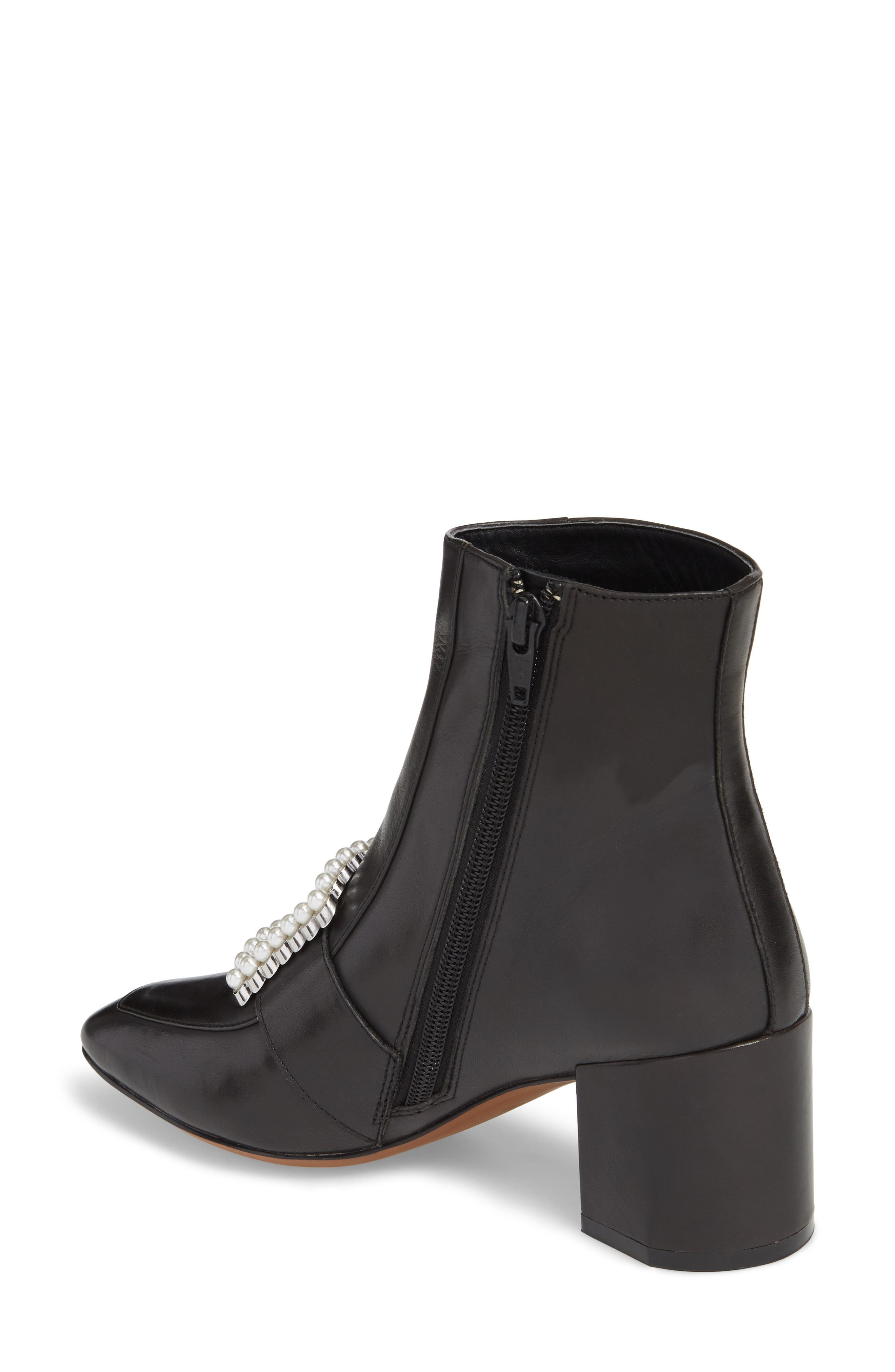 Cadence Buckle Bootie,                             Alternate thumbnail 2, color,                             Black Leather
