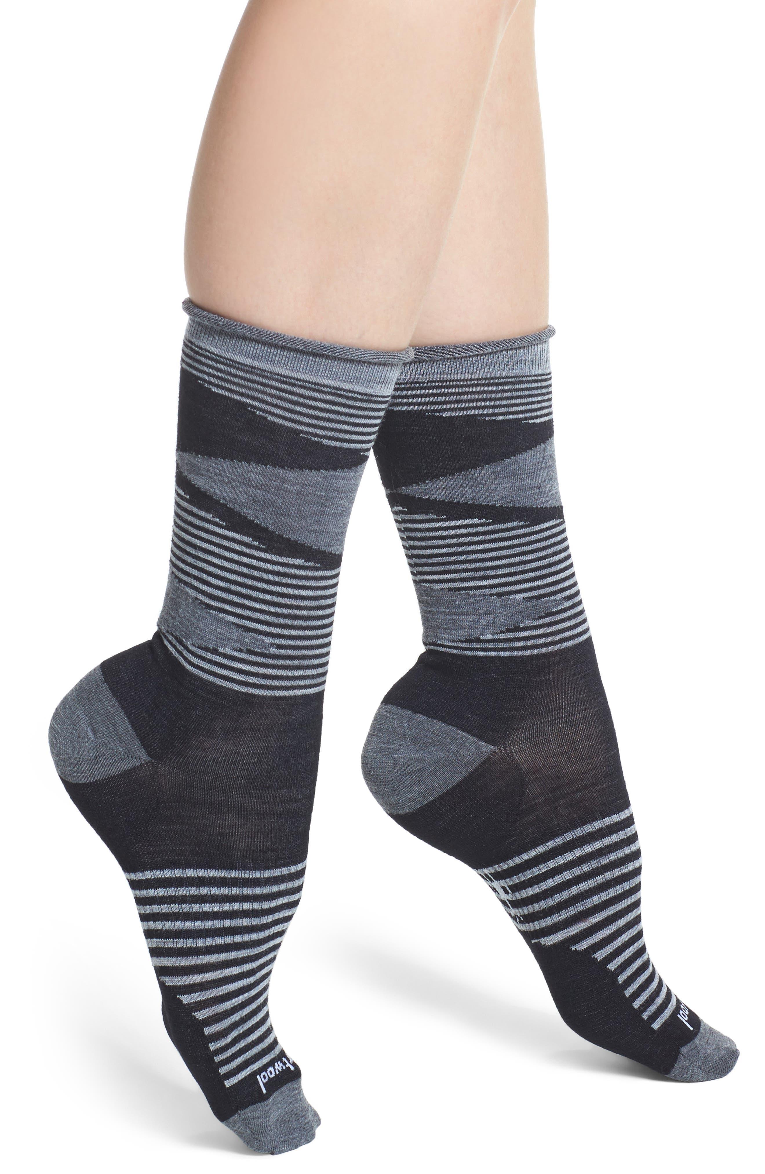 First Mate Crew Socks,                             Main thumbnail 1, color,                             Black