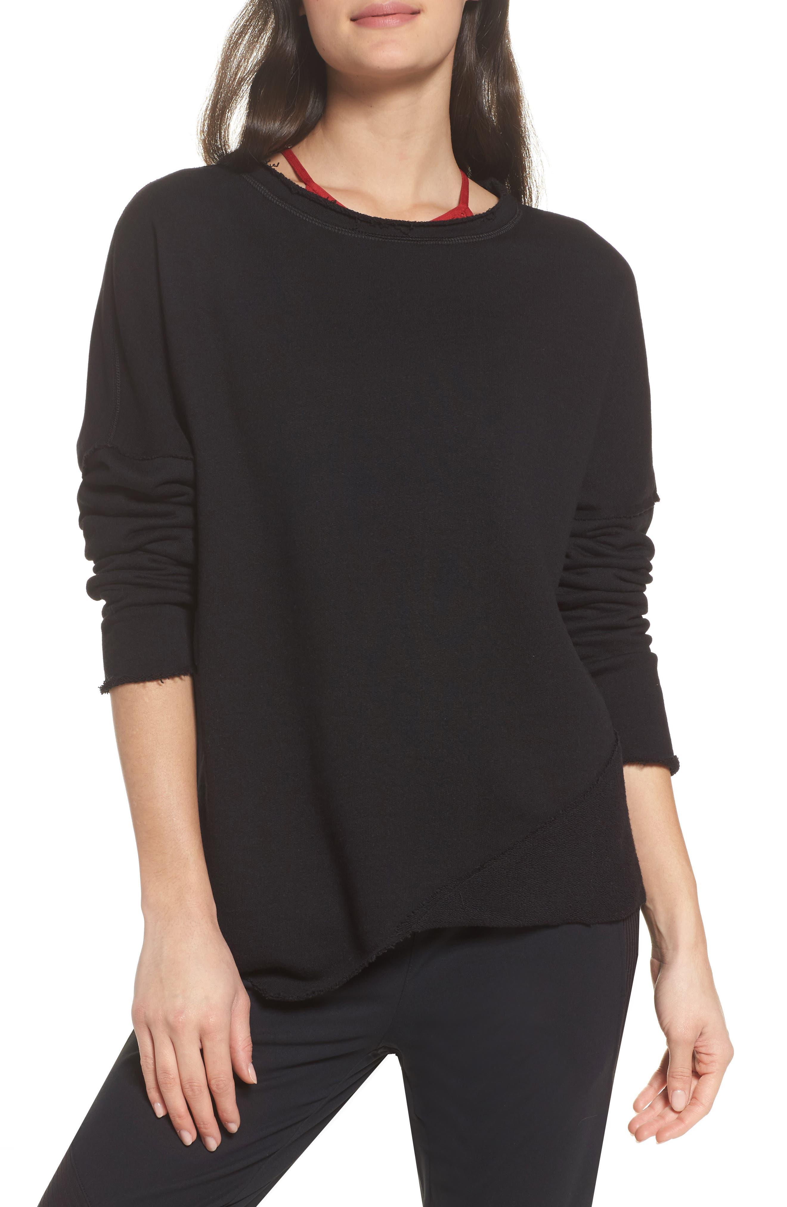 Exhale Sweatshirt,                         Main,                         color, Black