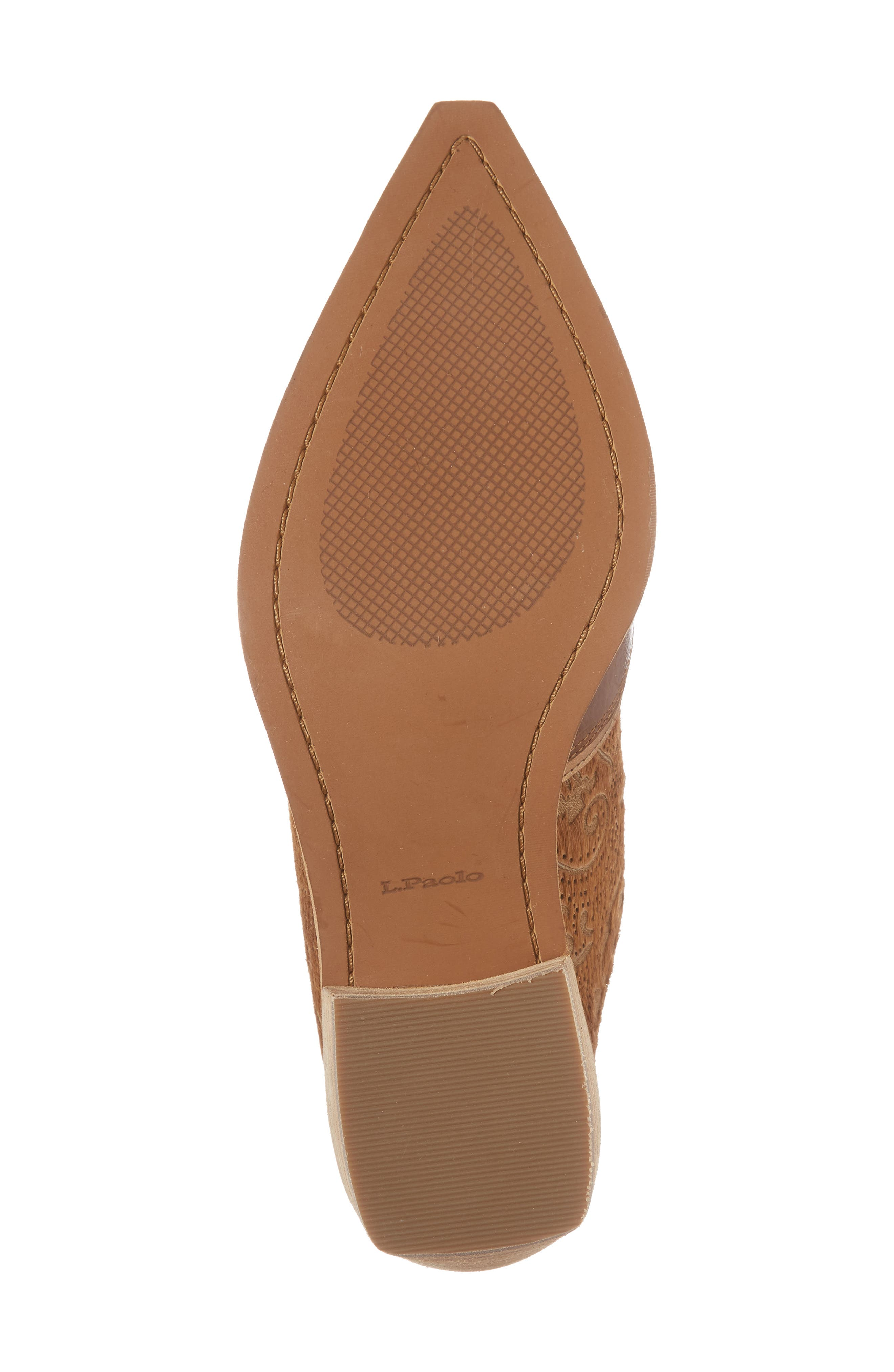Waylon Genuine Calf Hair Western Mule,                             Alternate thumbnail 6, color,                             Camel Leather
