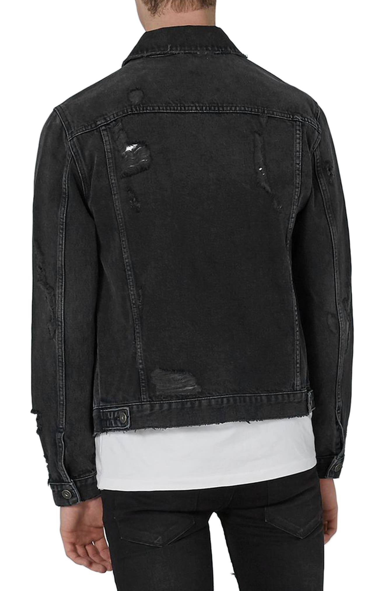 Alternate Image 2  - Topman Piro Distressed Denim Jacket