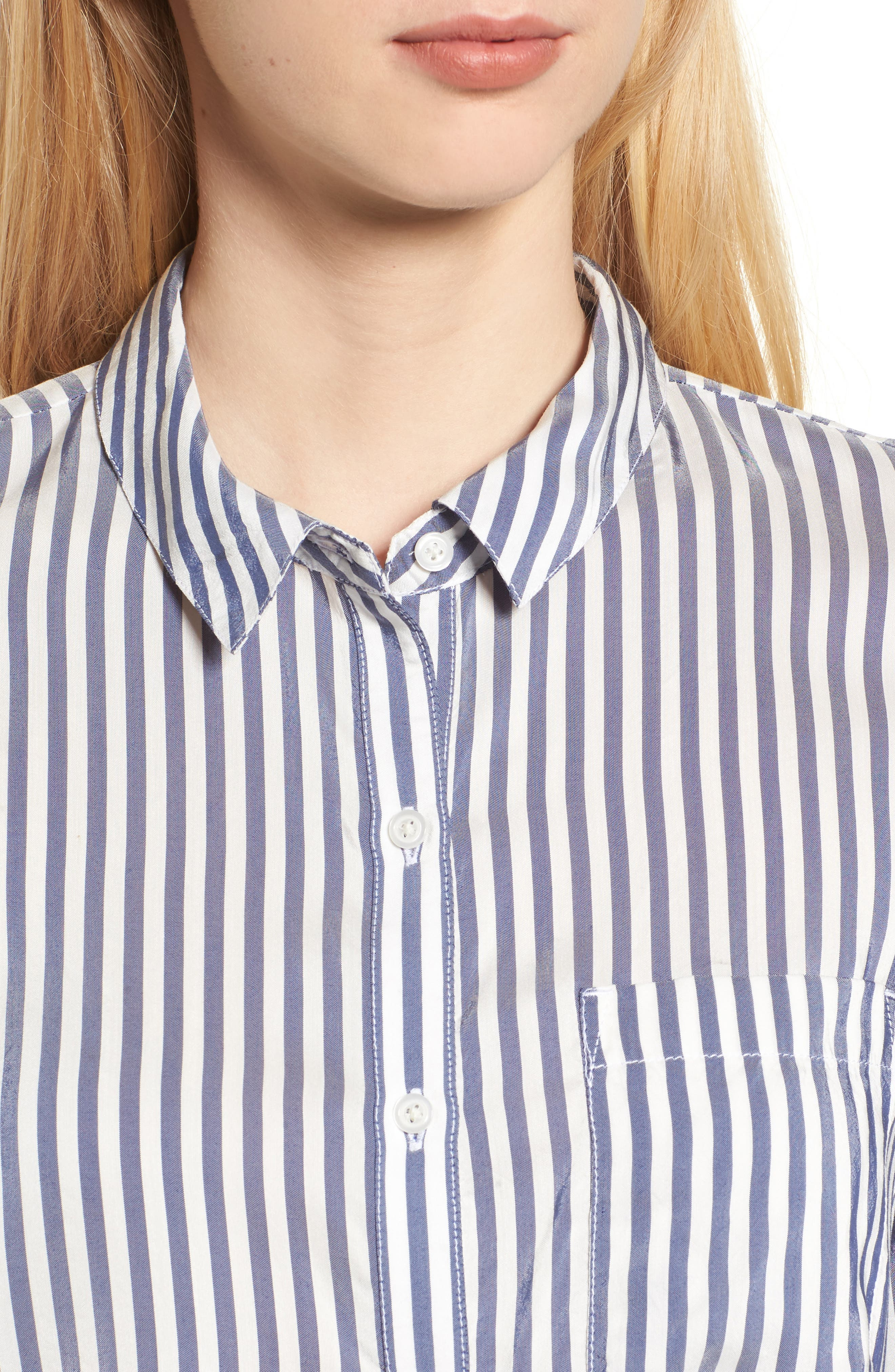 Stripe Shirt,                             Alternate thumbnail 4, color,                             Navy Evening Lucca Stripe