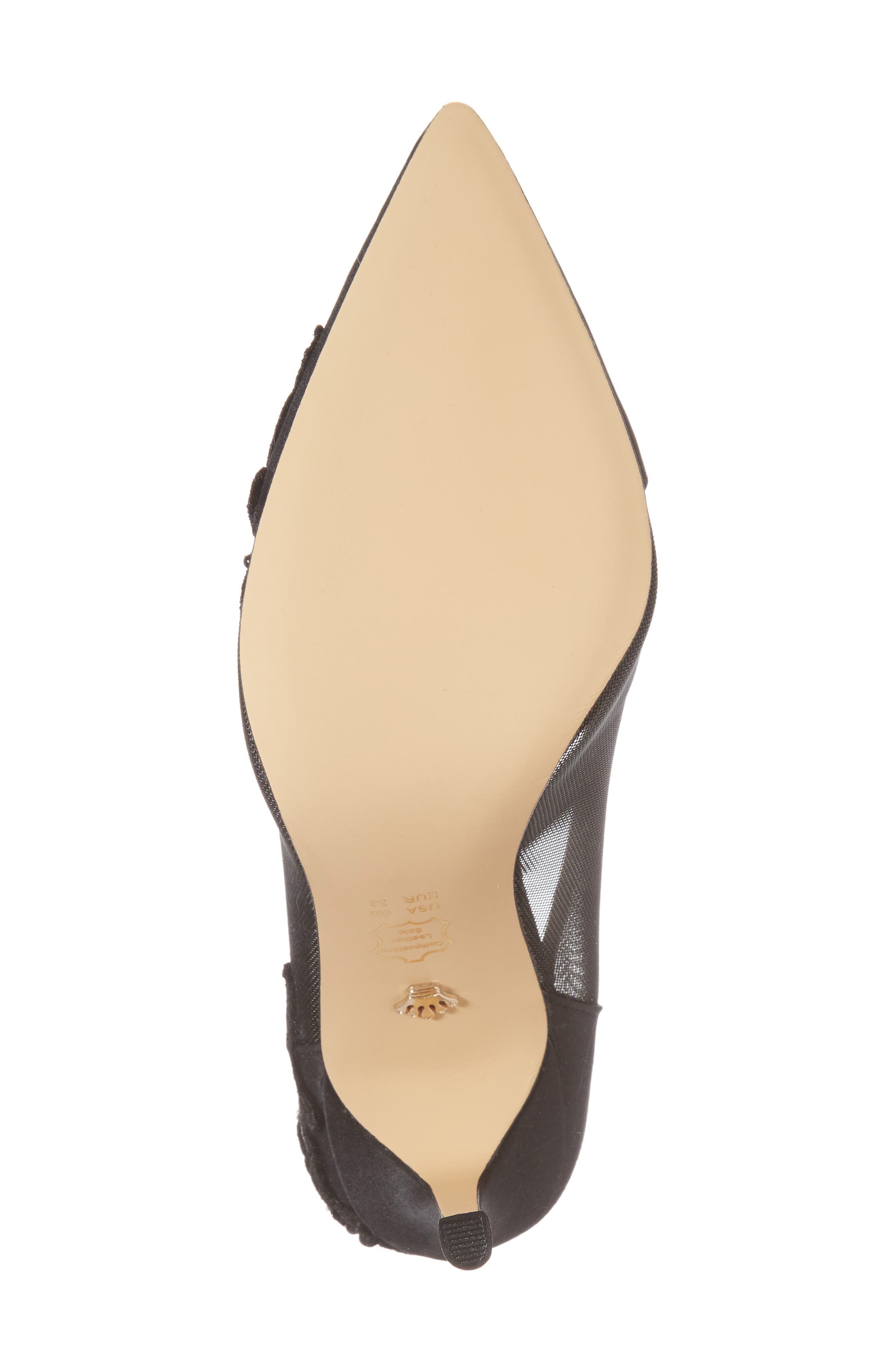 Donela Pump,                             Alternate thumbnail 6, color,                             Black Satin