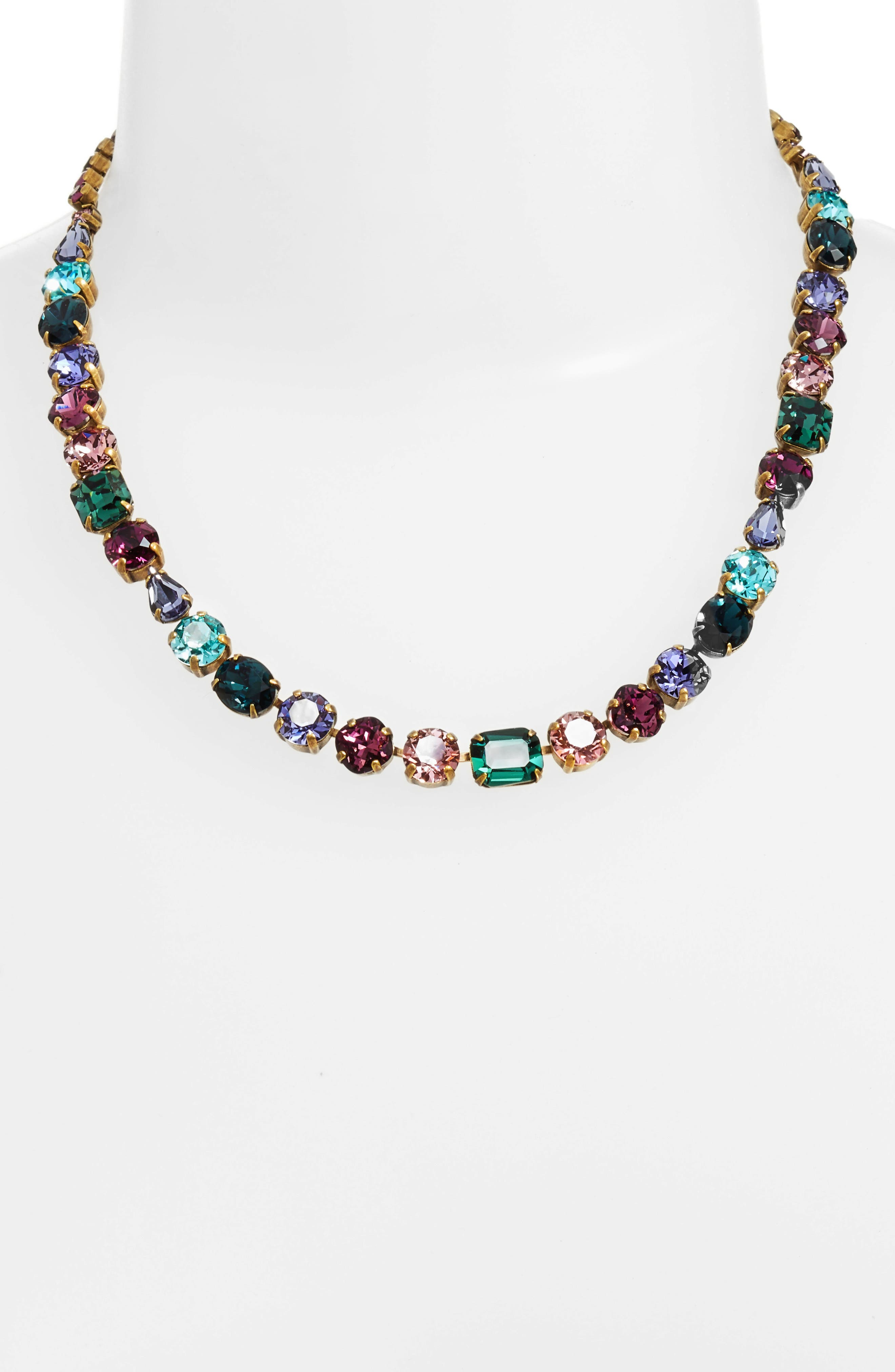 Tansy Line Crystal Necklace,                         Main,                         color, Multi