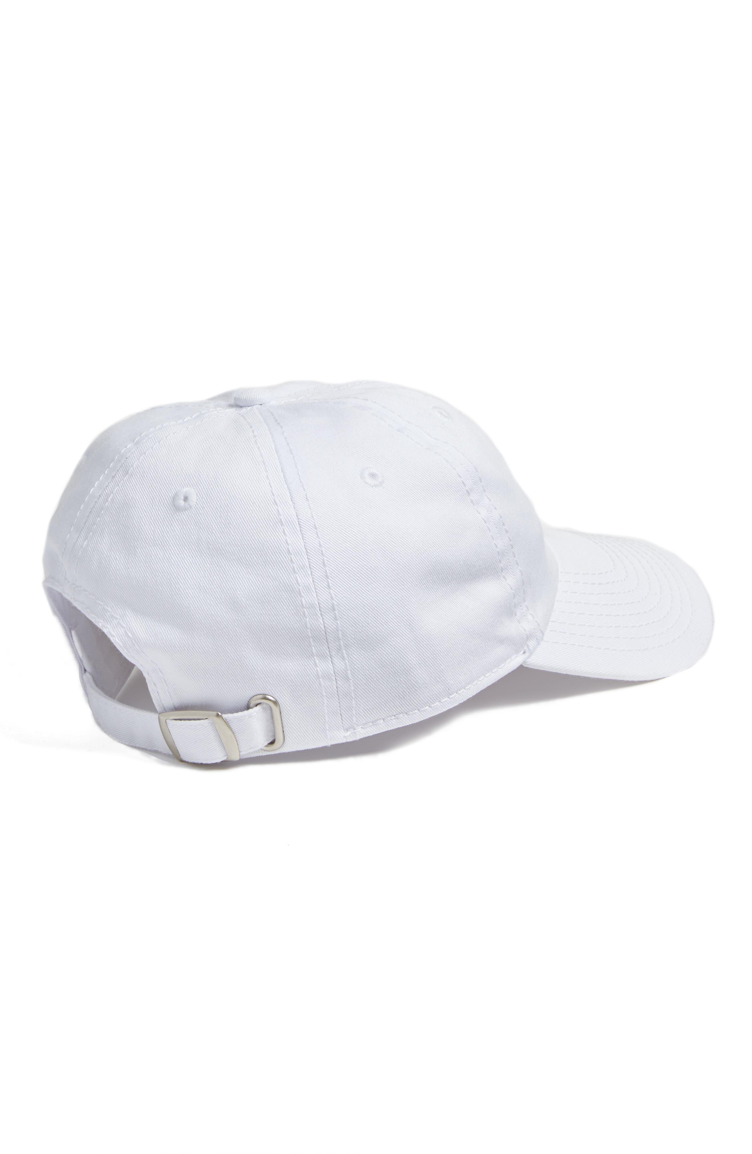 Micro Heart Baseball Cap,                             Alternate thumbnail 2, color,                             White