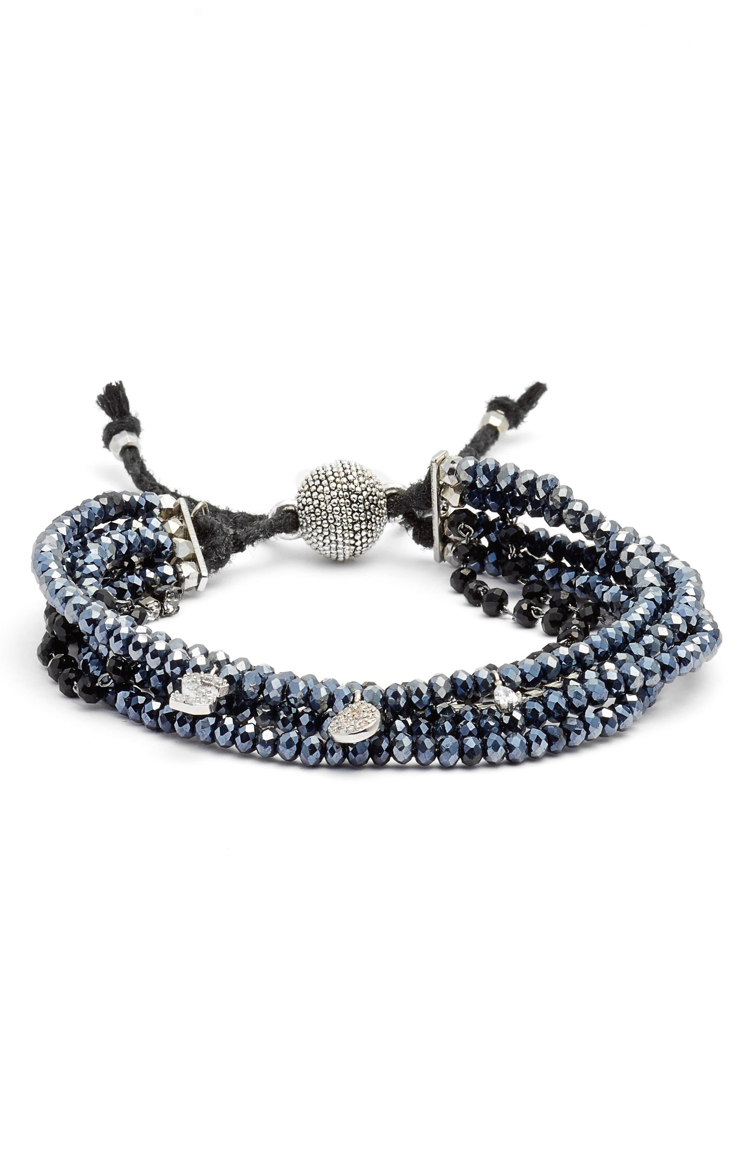 Serefina Pavé Initial Charm Bracelet