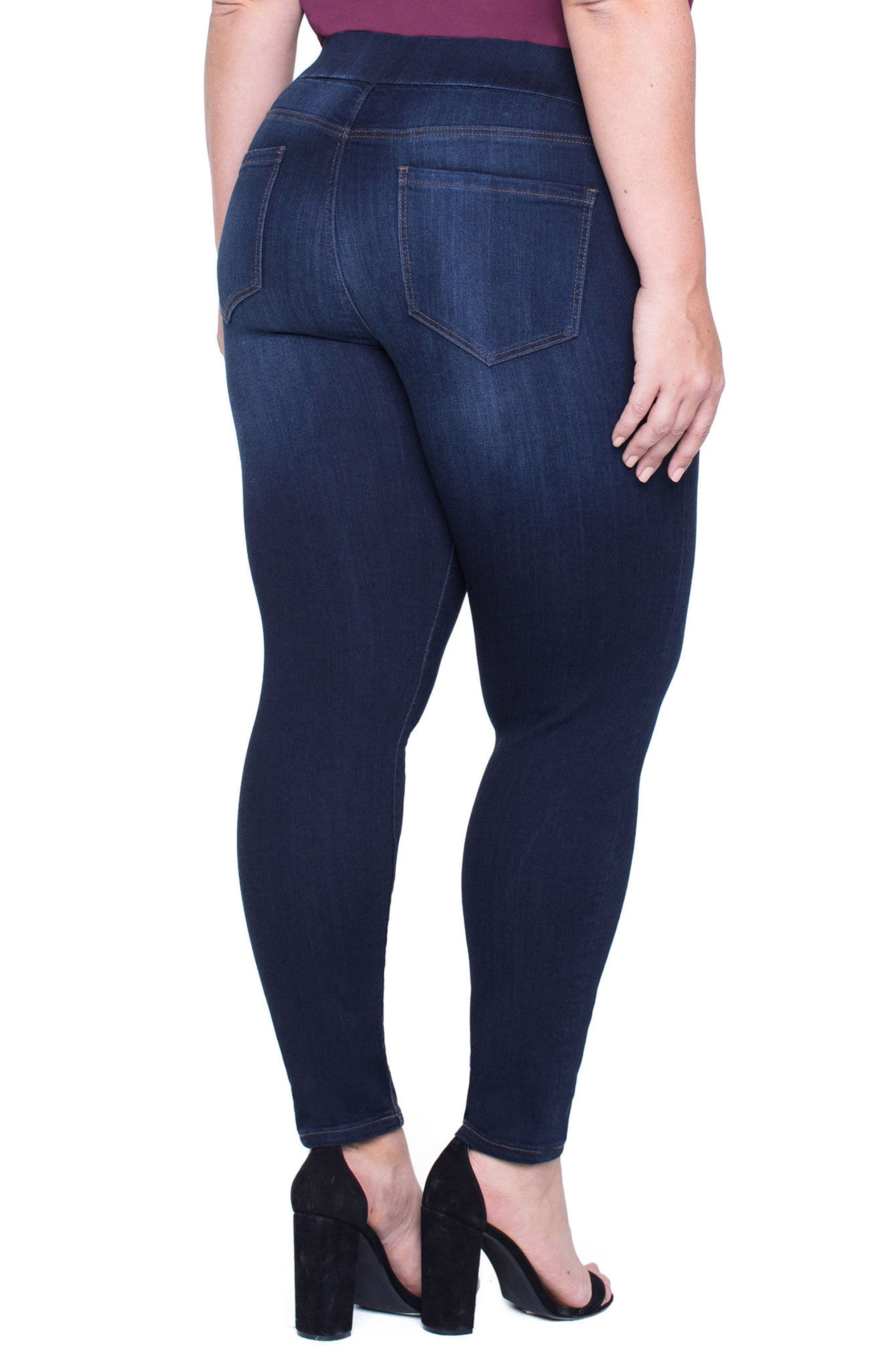 Alternate Image 2  - Liverpool Jeans Company Sienna Pull-On Stretch Ankle Jeans (Plus Size)