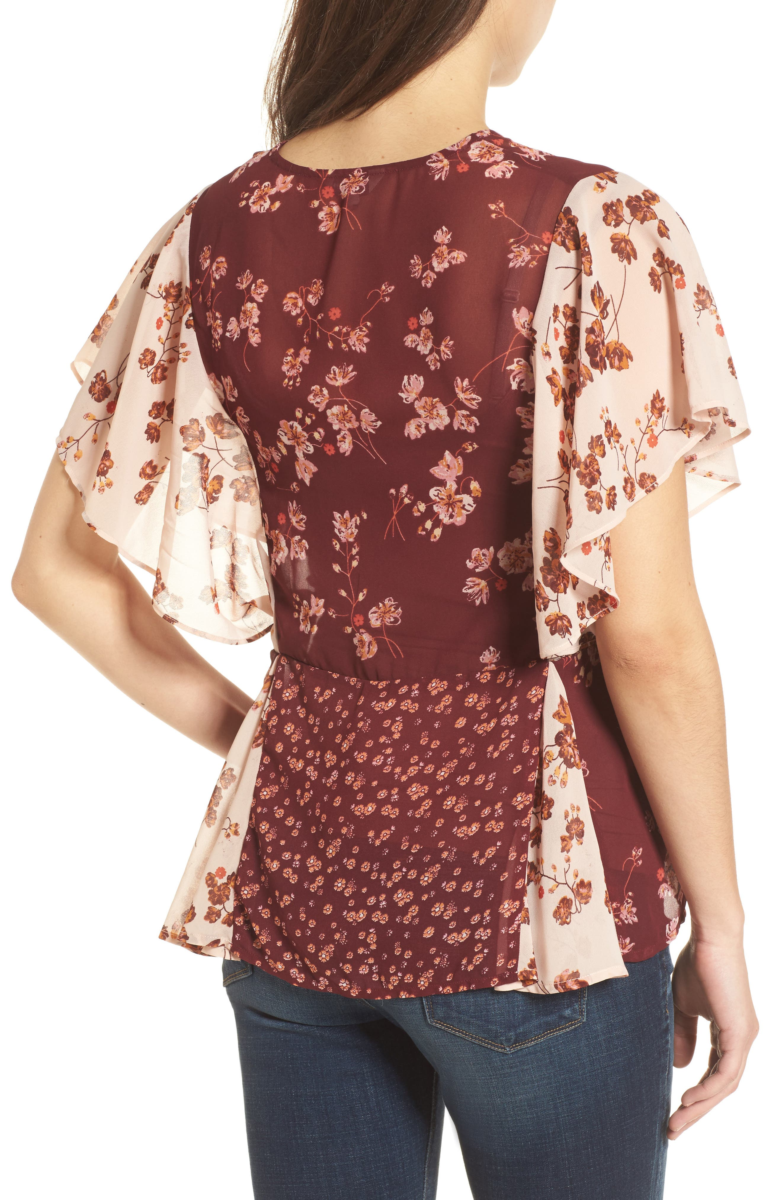 Alternate Image 2  - Lucky Brand Mixed Floral PrintTop
