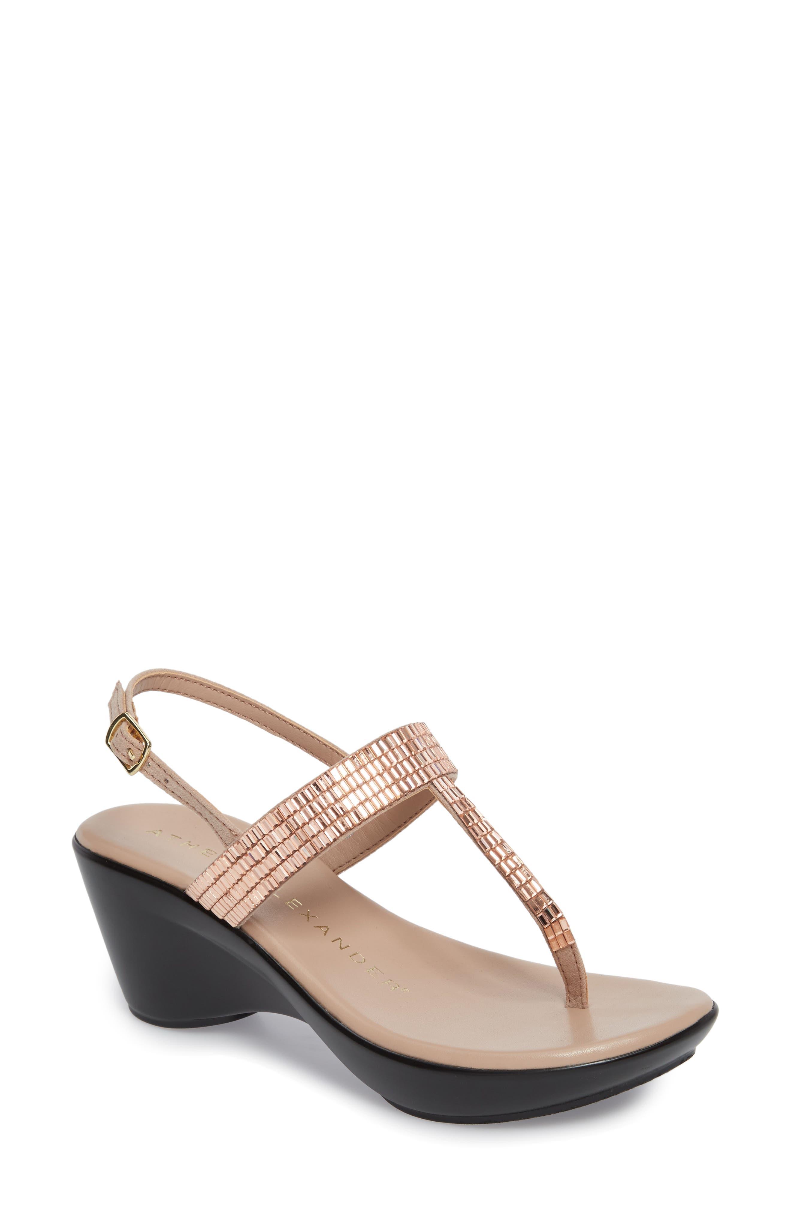 Alternate Image 1 Selected - Athena Alexander Dakkota Wedge Sandal (Women)