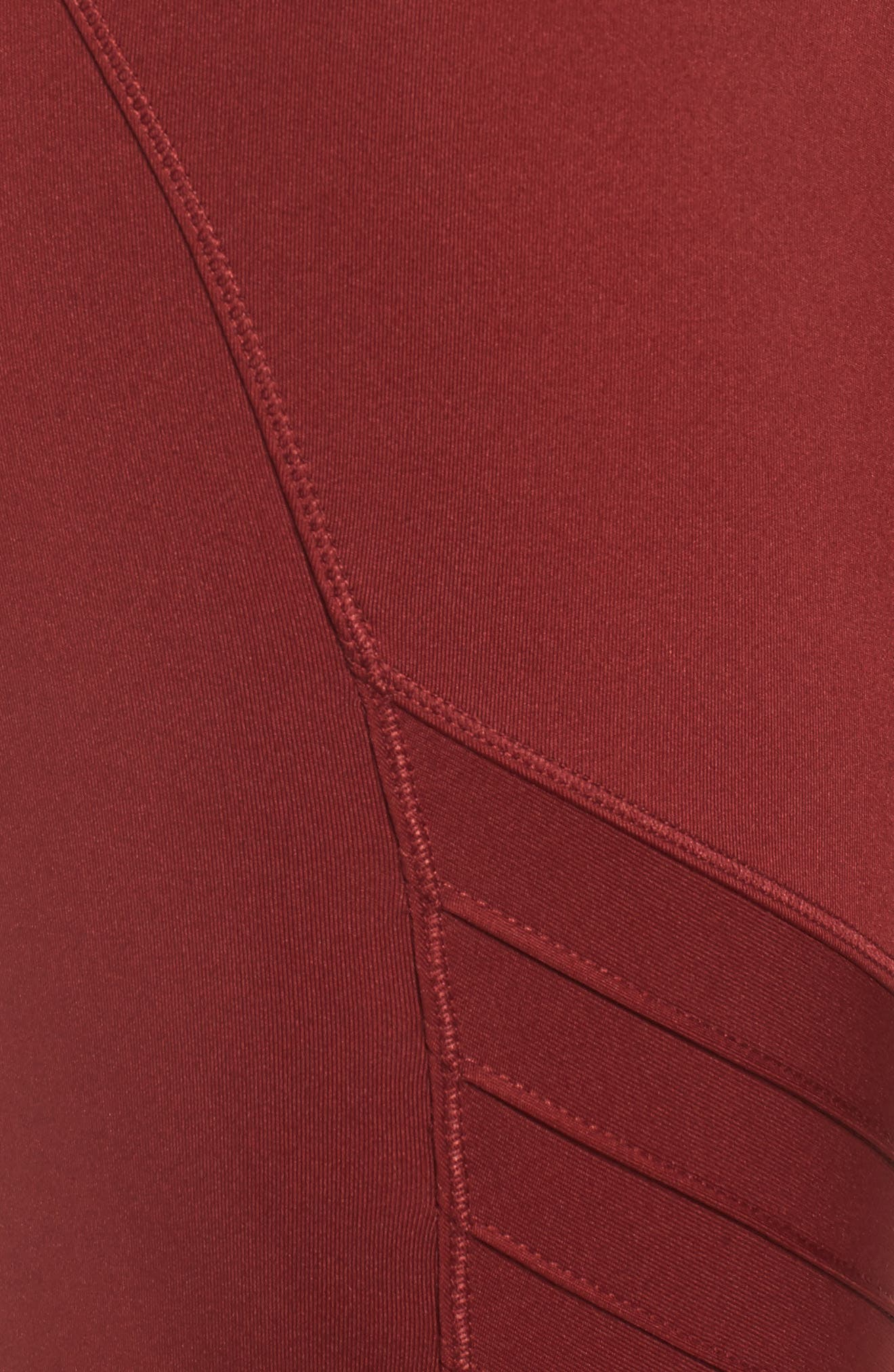 Pintuck Leggings,                             Alternate thumbnail 8, color,                             Russet