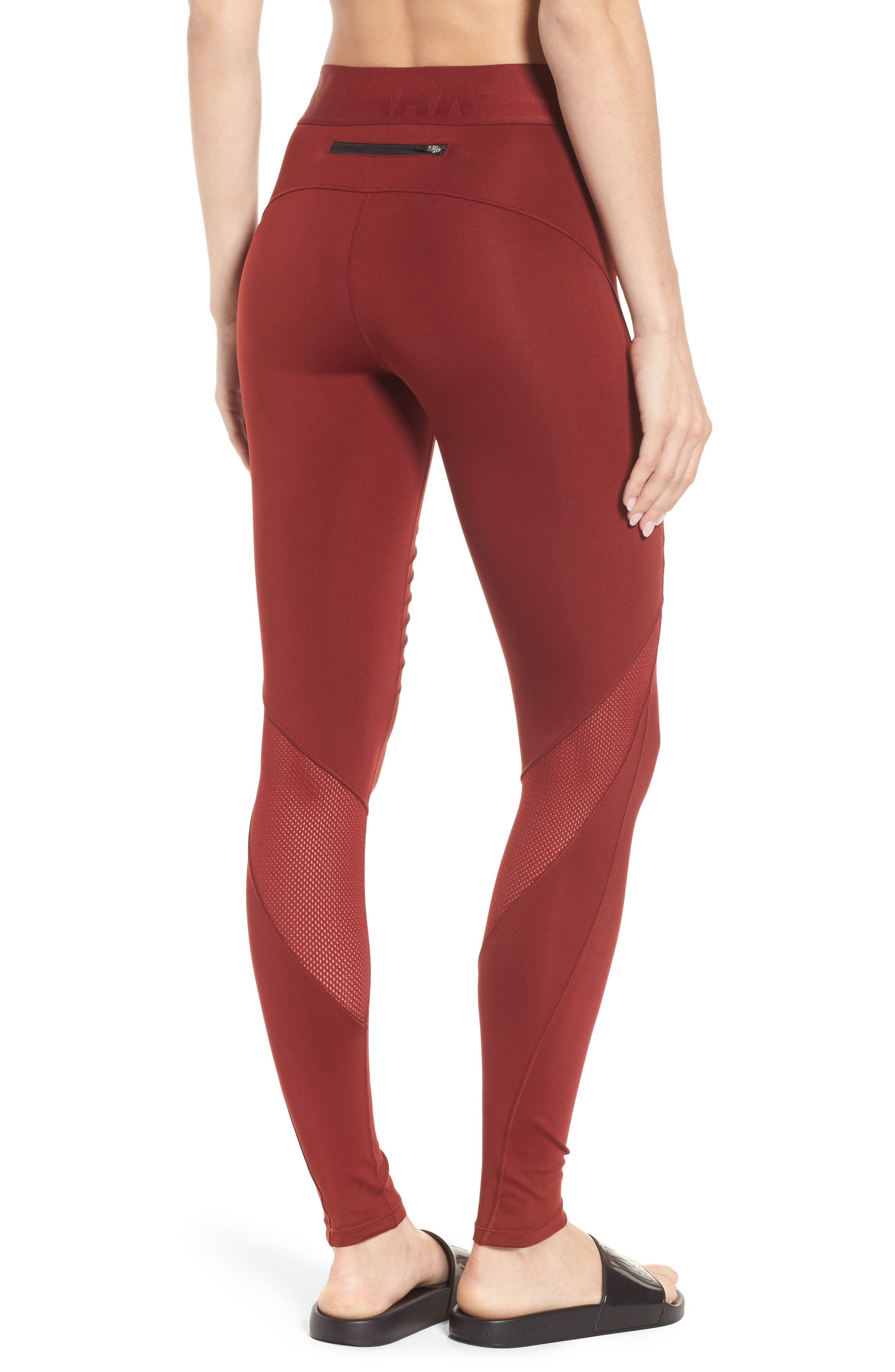 Pintuck Leggings,                             Alternate thumbnail 5, color,                             Russet