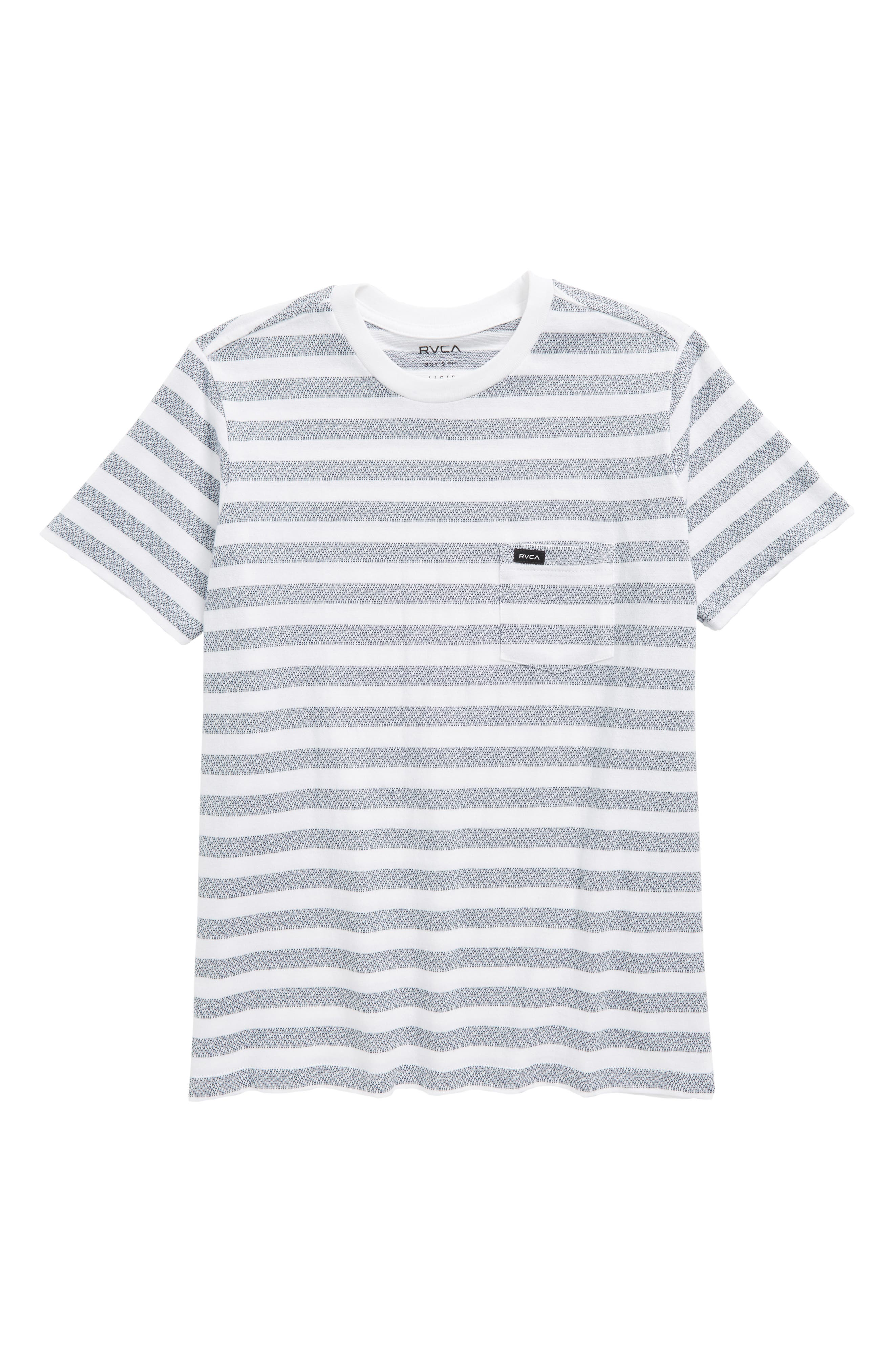 Alternate Image 1 Selected - RVCA What's Shakin' Stripe T-Shirt (Big Boys)
