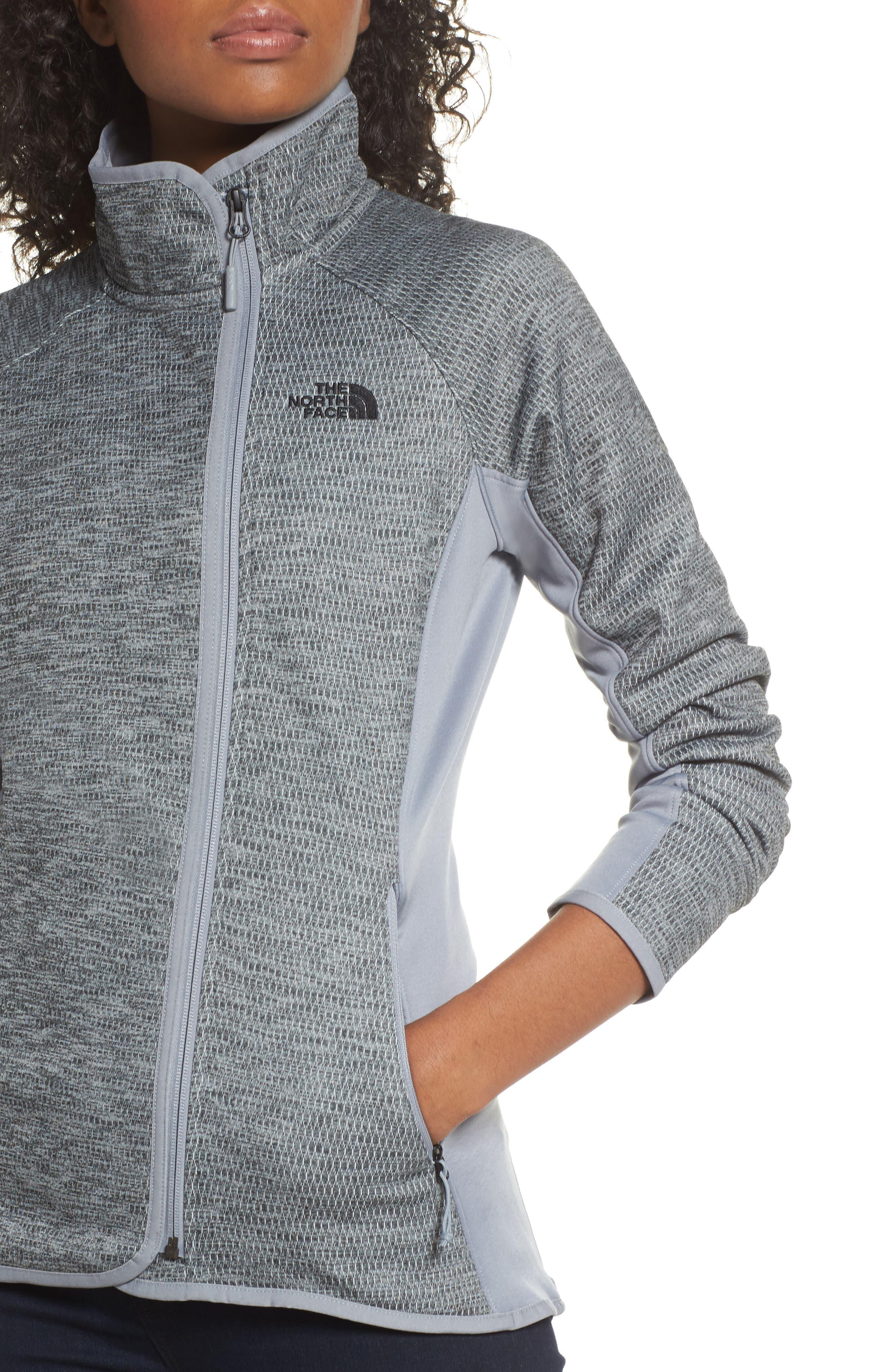 Arcata Zip Jacket,                             Alternate thumbnail 4, color,                             Tnf Mid Grey Heather/ Black